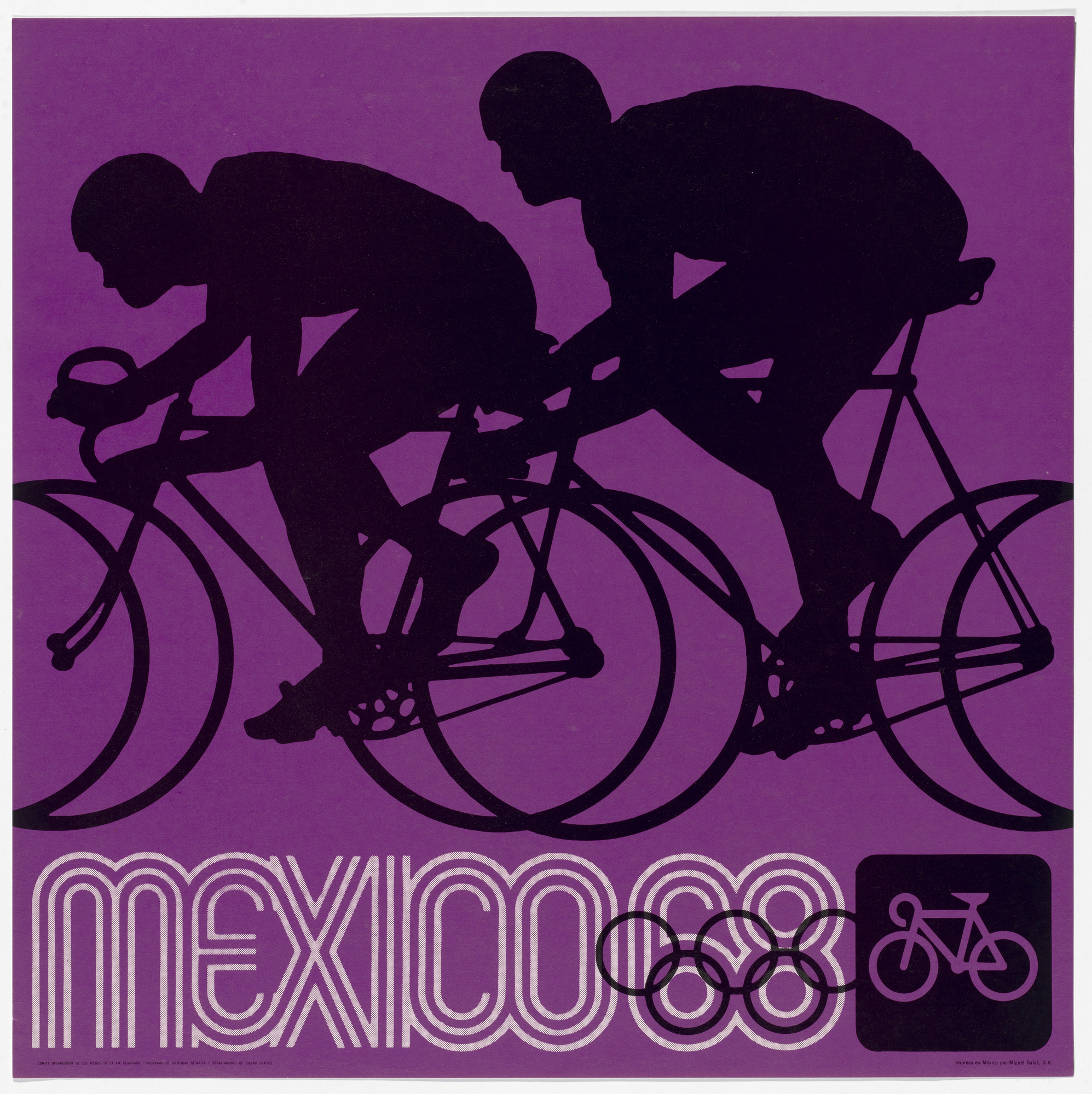 Lance Wyman, Department of Publications and Urban Design, Organizing Committee of the XIX Olympiad. Mexico City 1968 Olympics: Cycling. c. 1968