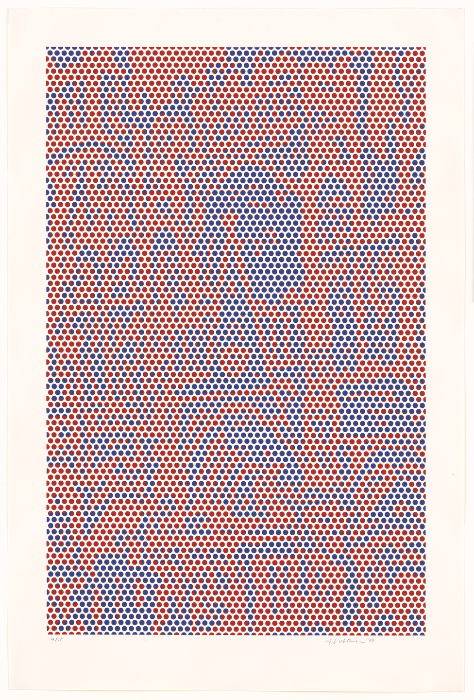 Roy Lichtenstein. Cathedral #2 from Cathedral Series. 1969