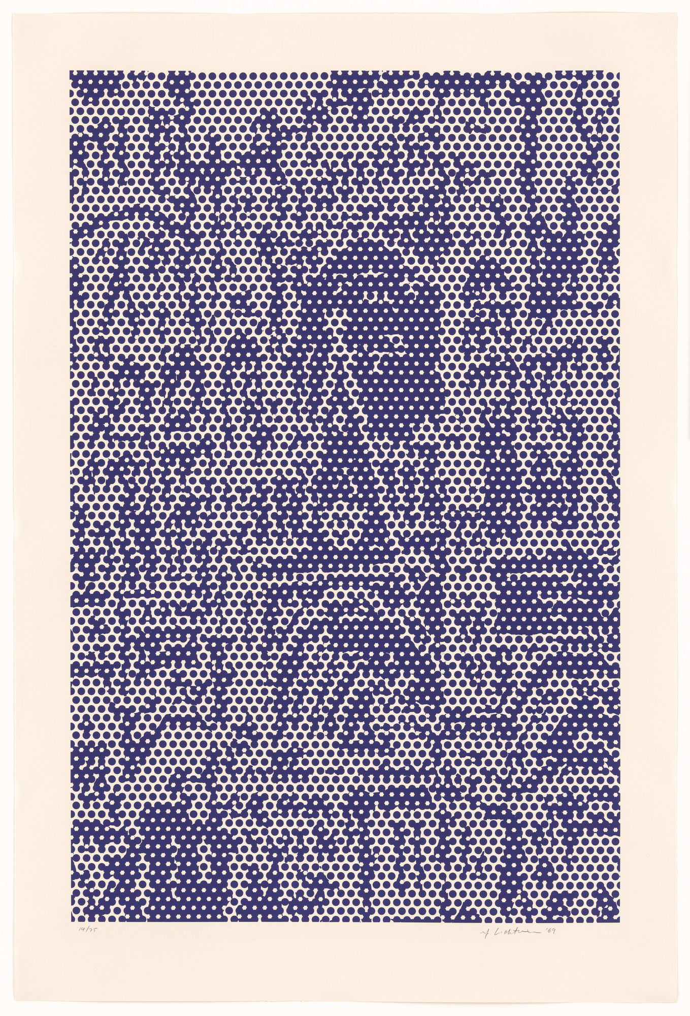 Roy Lichtenstein. Cathedral #3 from Cathedral Series. 1969