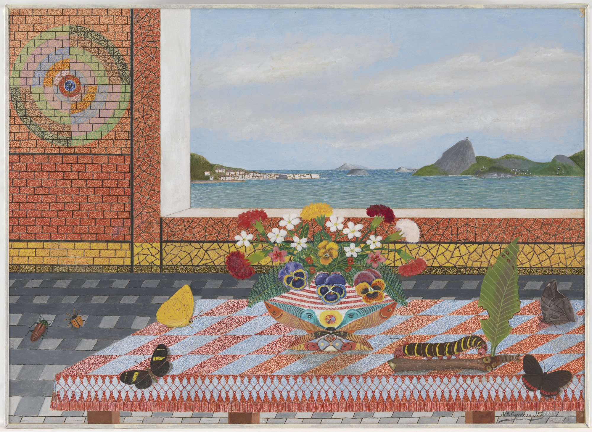 José Bernardo Cardoso Jr.. Still Life with View of the Bay of Guanabara. 1937