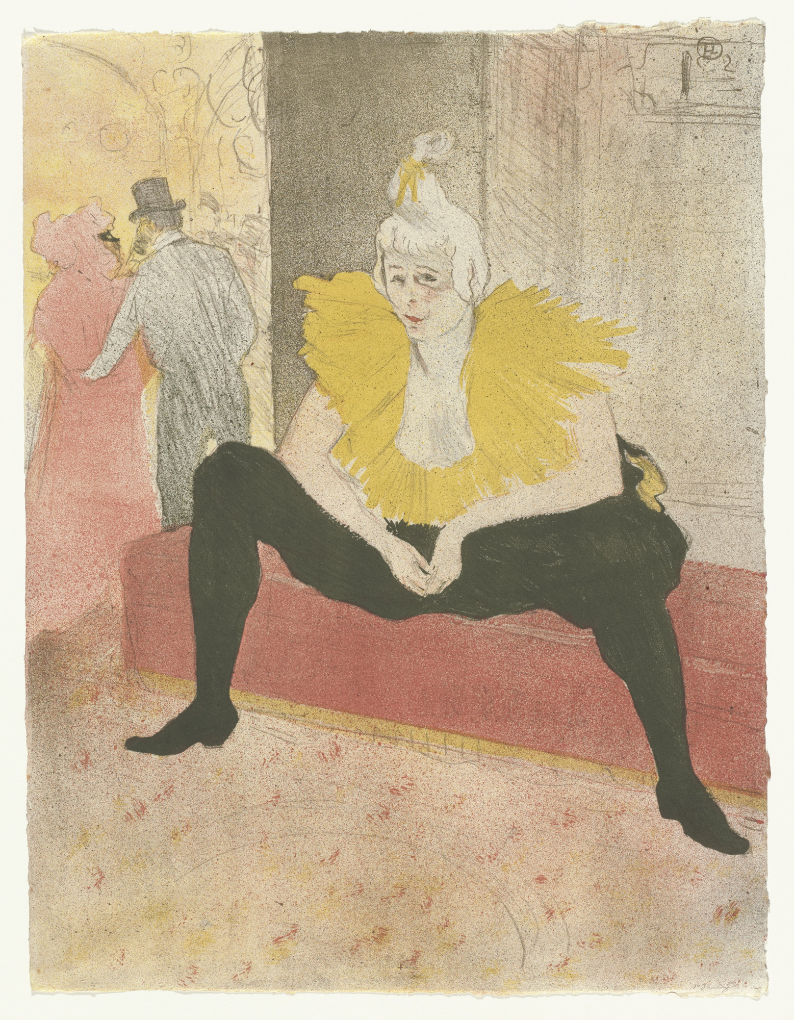 Henri de Toulouse-Lautrec. Mademoiselle Cha-u-kao, The Seated Clowness (Mademoiselle Cha-u-kao, La Clownesse assise) from Elles. 1896