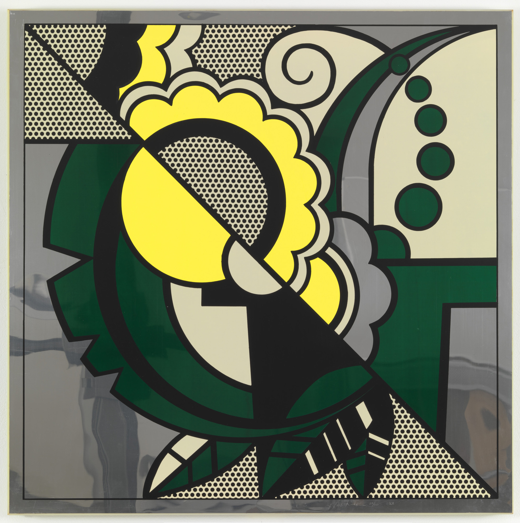 Roy Lichtenstein. Still Life from The Metropolitan Scene. 1968