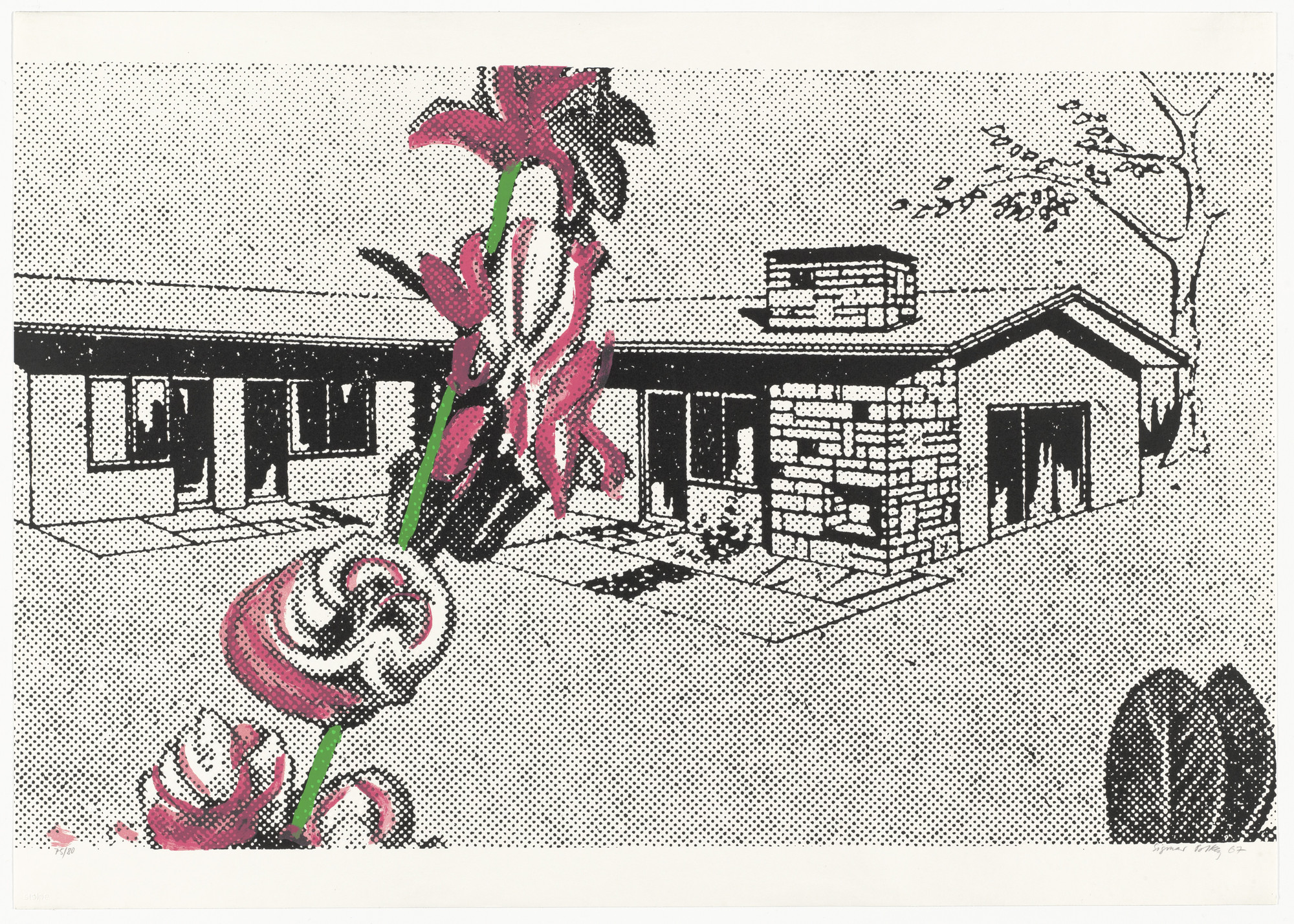 Sigmar Polke. Weekend House (Wochenendhaus) from Graphics of Capitalist Realism (Grafik des Kapitalistischen Realismus). 1967, published 1968