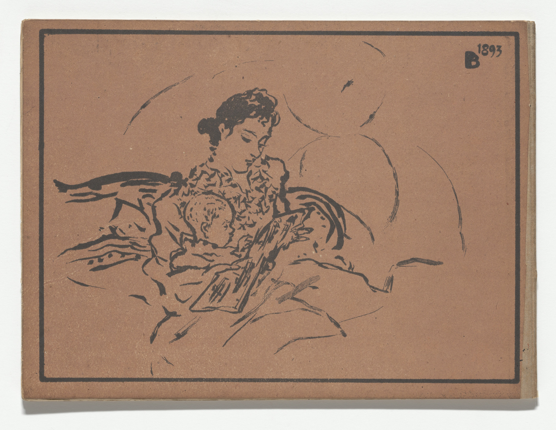 Pierre Bonnard. Back cover from Petit solfège illustré (Little Illustrated Solfège). 1893 (reproduced drawings executed 1891–93)
