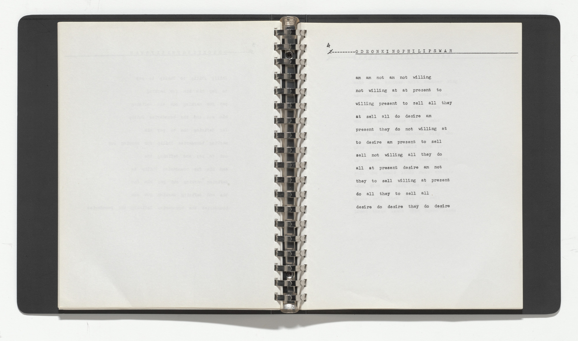 Carl Andre. Seven Books of Poetry. 1960–69, published 1969