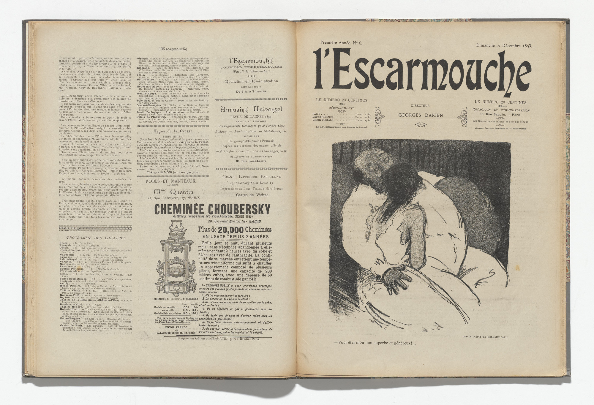 Various Artists. L'Escarmouche, no. 6. December 17, 1893