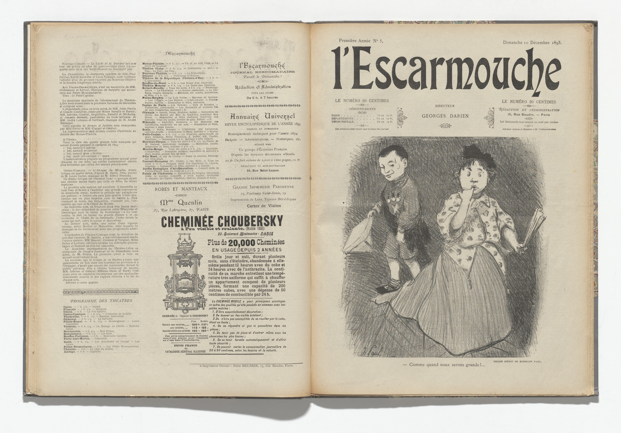 Various Artists. L'Escarmouche, no. 5. December 10, 1893