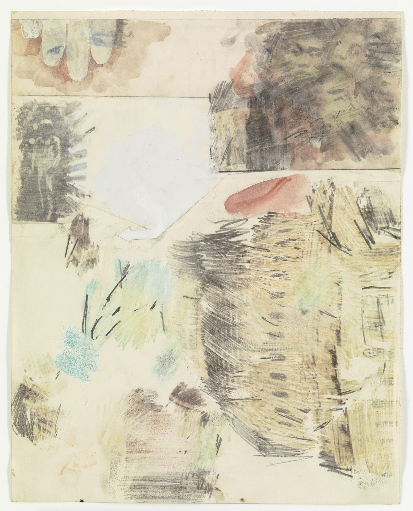 Robert Rauschenberg. Canto IX: Circle Six, The Heretics from the series Thirty-Four Illustrations for Dante's Inferno. (1959-60)