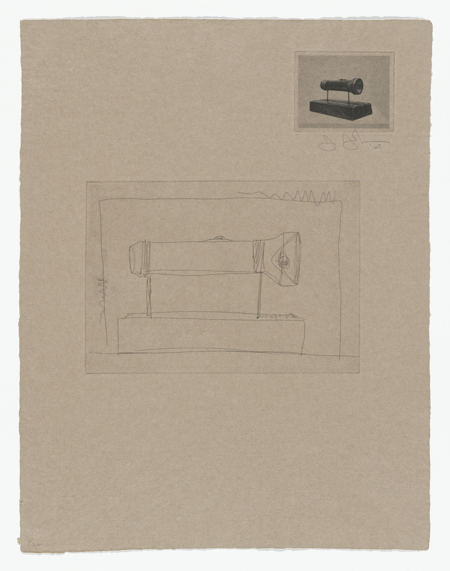 Jasper Johns. Flashlight from 1st Etchings. 1967