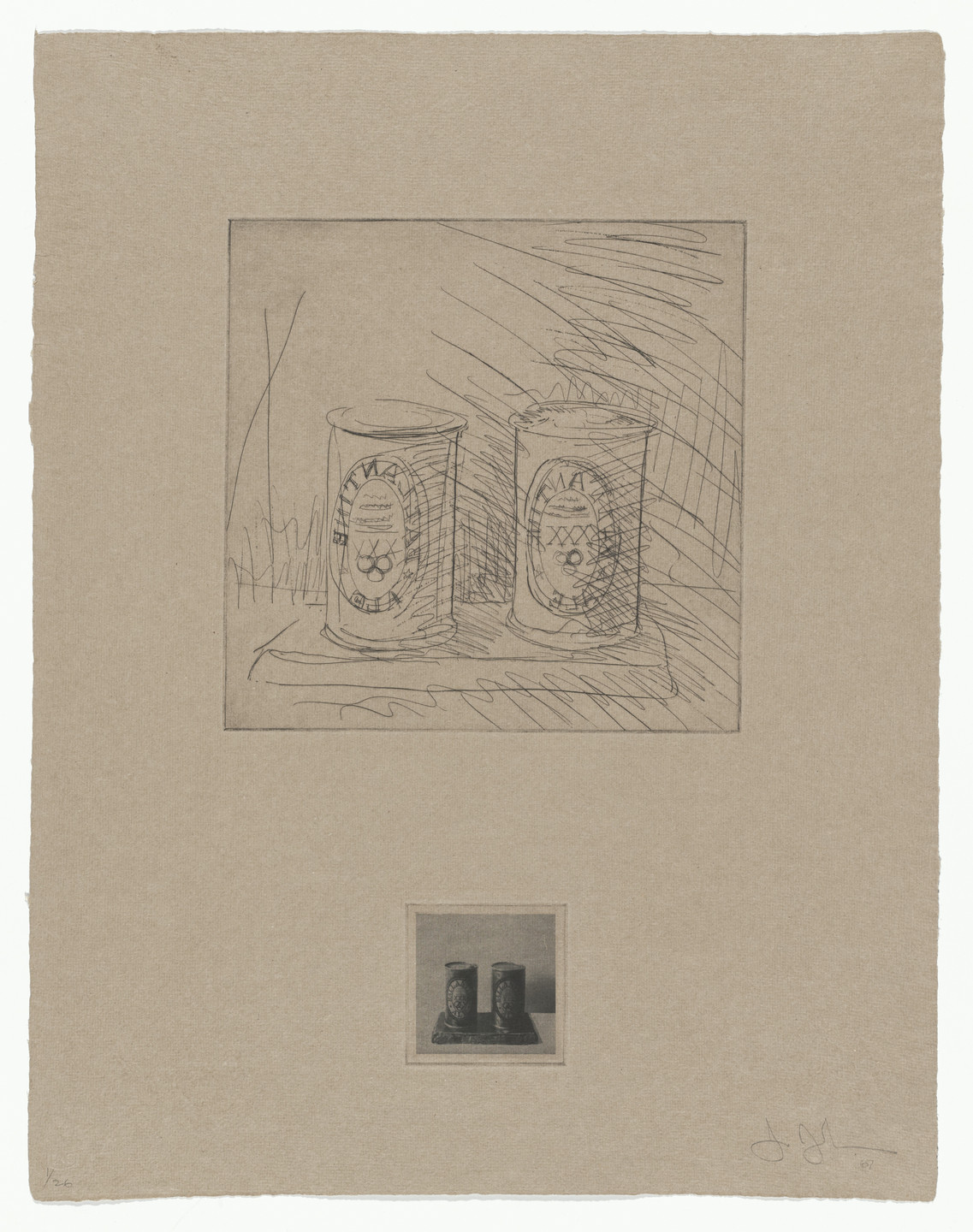 Jasper Johns. Ale Cans from 1st Etchings. 1967
