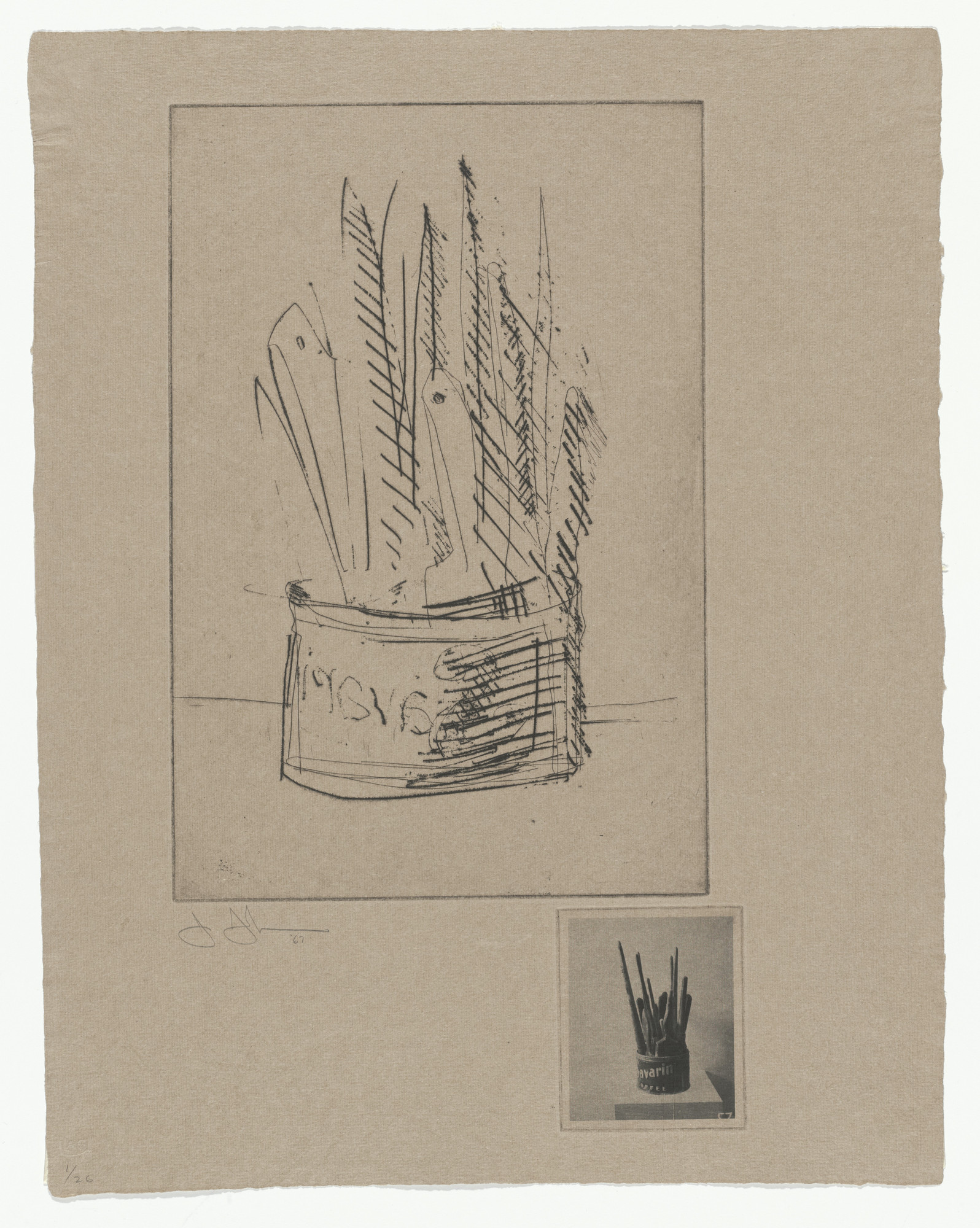 Jasper Johns. Paintbrushes from 1st Etchings. 1967