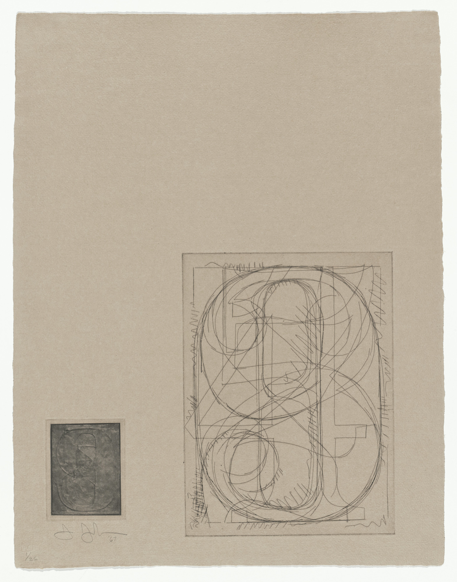 Jasper Johns. Numbers from 1st Etchings. 1967