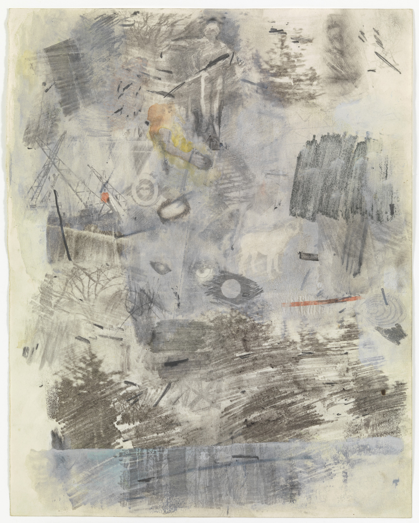 Robert Rauschenberg. Canto I: The Dark Wood of Error from the series Thirty-Four Illustrations for Dante's Inferno. (1958)