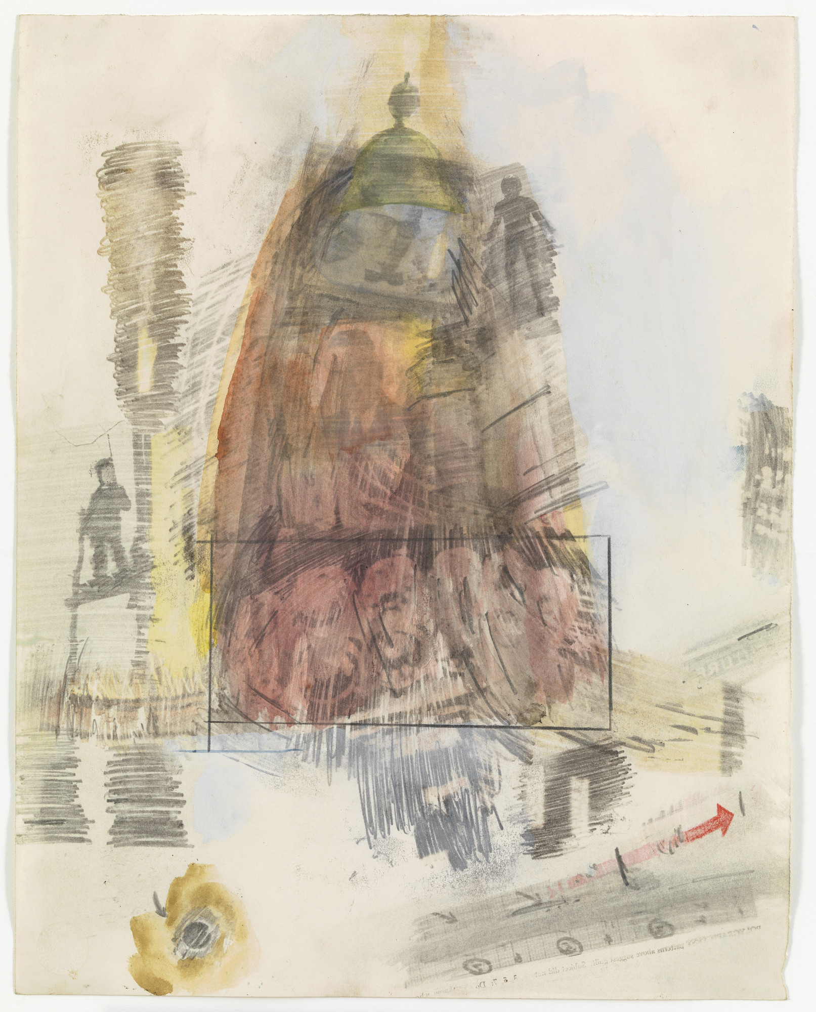 Robert Rauschenberg. Canto X: Circle Six, The Heretics from the series Thirty-Four Illustrations for Dante's Inferno. (1959-60)