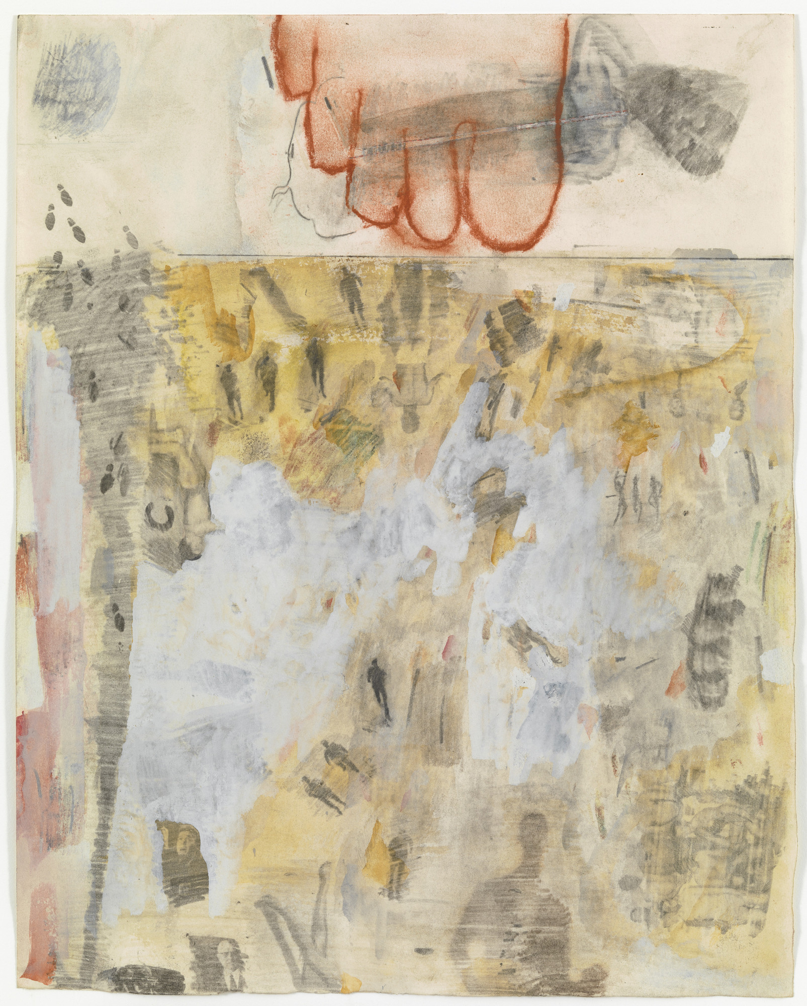 Robert Rauschenberg. Canto XIV: Circle Seven, Round 3, The Violent Against God, Nature, and Art, from the series Thirty-Four Illustrations for Dante's Inferno. (1959-60)