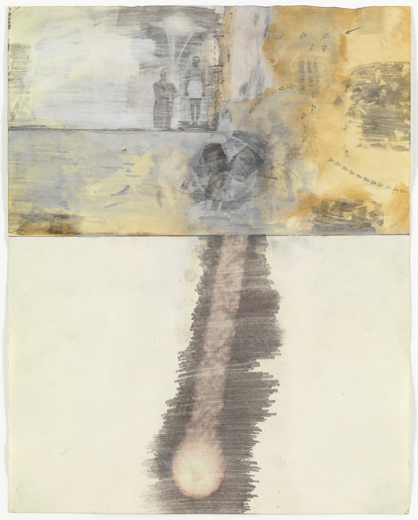 Robert Rauschenberg. Canto XVI: Circle Seven, Round 3, The Violent Against Nature and Art from the series Thirty-Four Illustrations for Dante's Inferno. (1959-60)