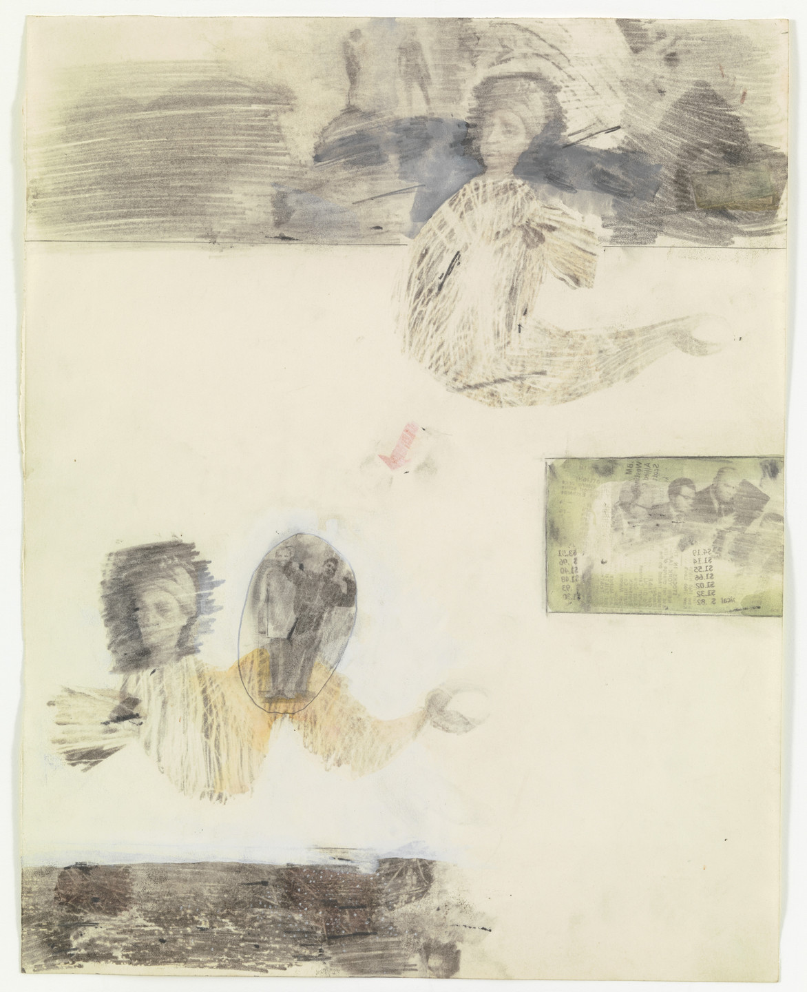 Robert Rauschenberg. Canto XVII: Circle Seven, Round 3, The Violent Against Art, The Usurers, Geryon from the series Thirty-Four Illustrations from Dante's Inferno. (1959-60)