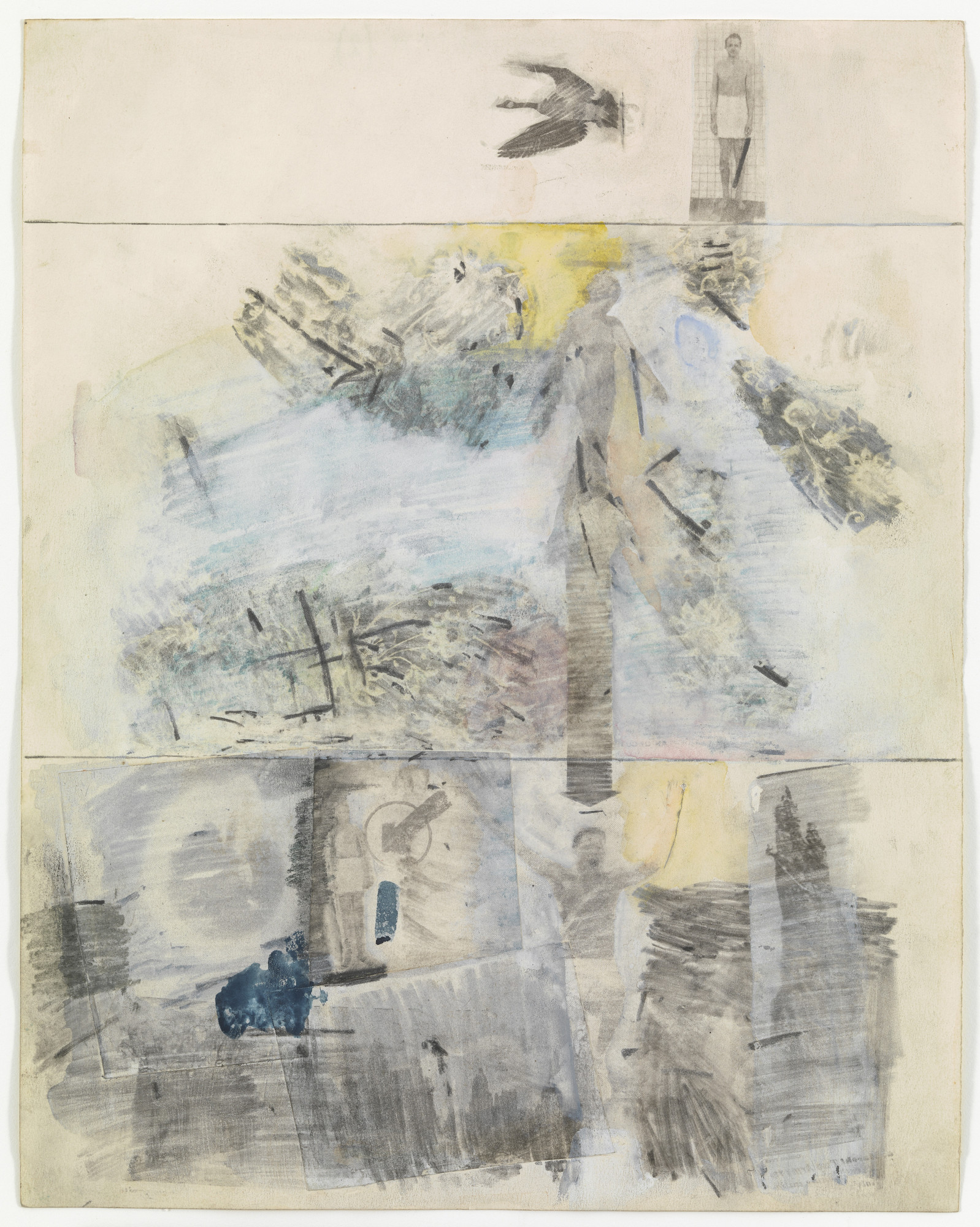 Robert Rauschenberg. Canto II: The Descent from the series Thirty-Four Illustrations for Dante's Inferno. (1958)