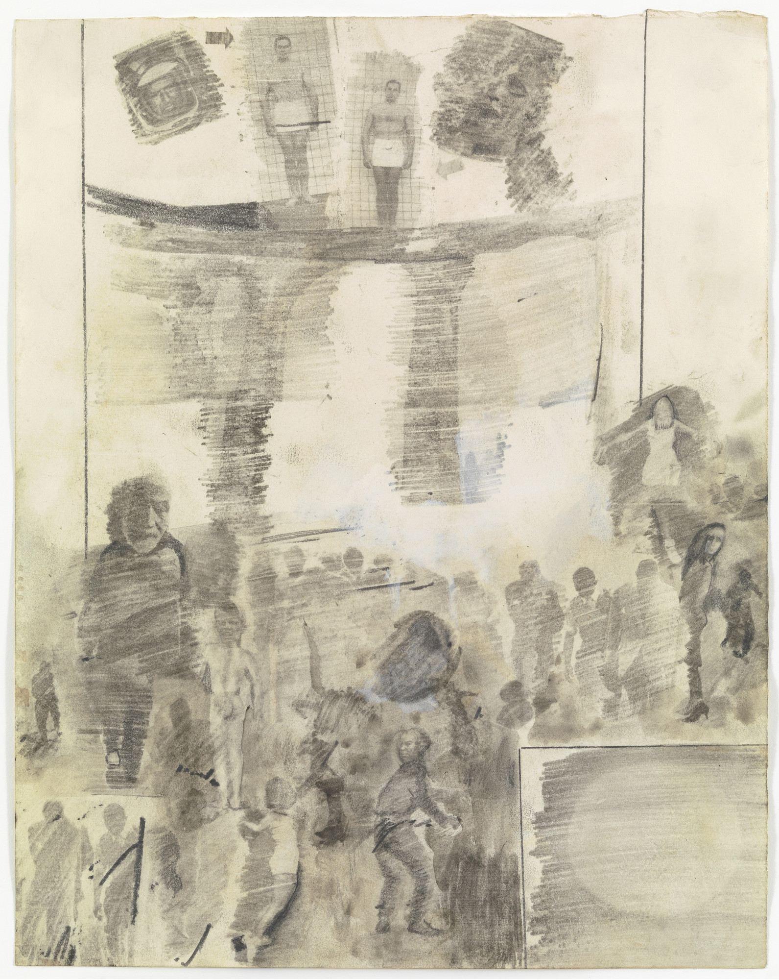 Robert Rauschenberg. Canto XX: Circle Eight, Bolgia 4, The Fortune Tellers and Diviners from the series Thirty-Four Illustrations for Dante's Inferno. (1959-60)
