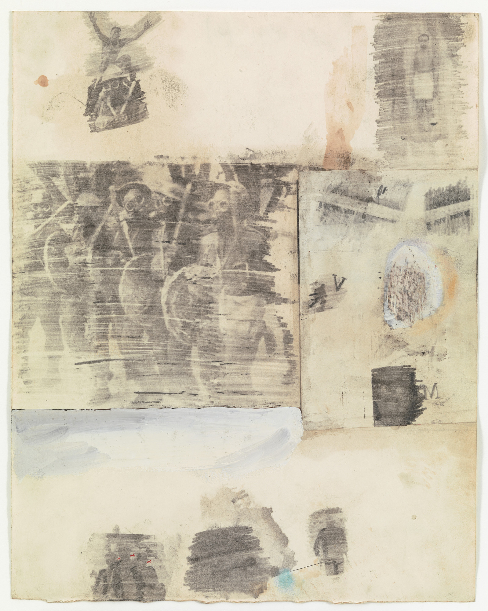 Robert Rauschenberg. Canto XXI: Circle Eight, Bolgia 5, The Grafters from the series Thirty-Four Illustrations for Dante's Inferno. (1959-60)