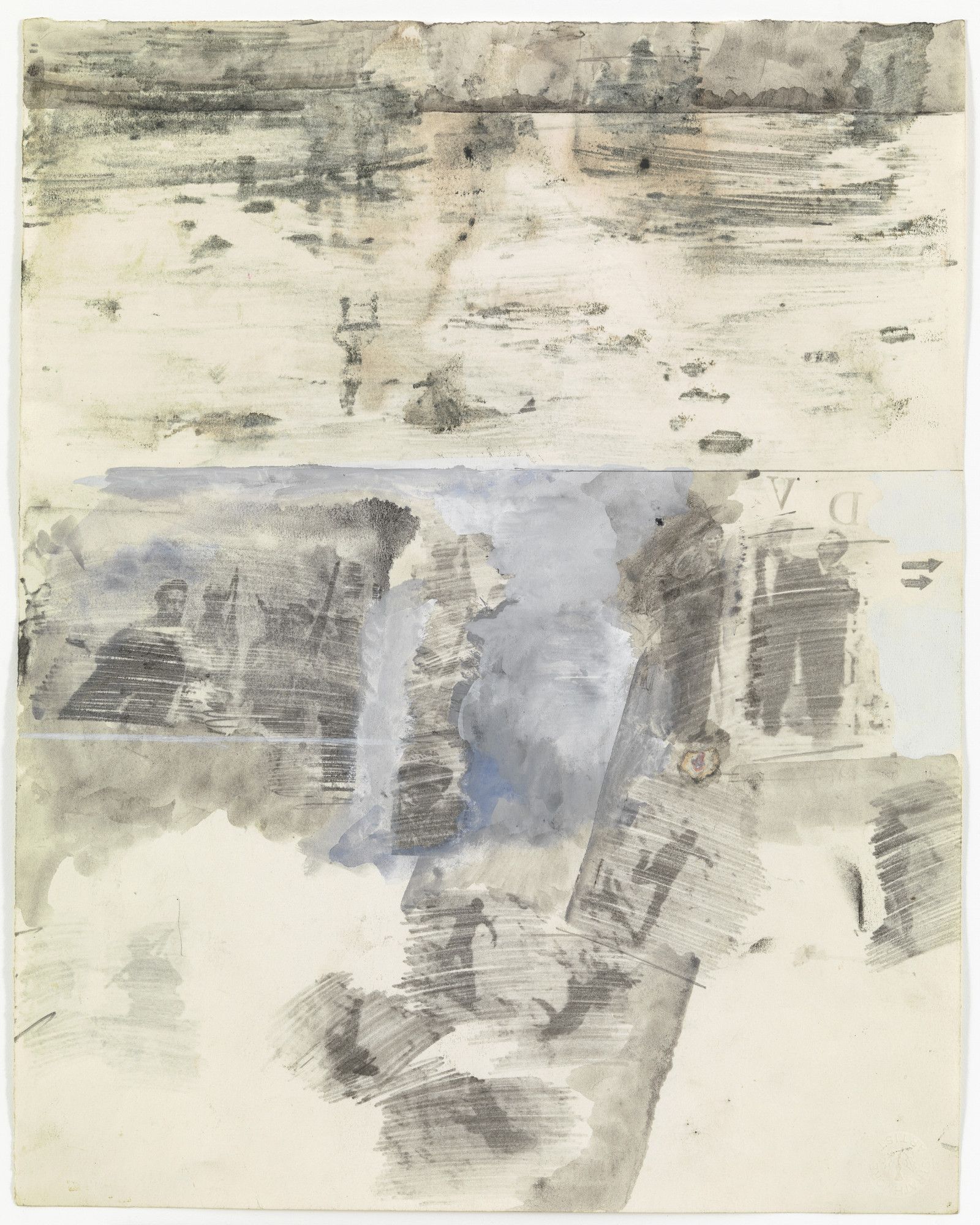 Robert Rauschenberg. Canto XXII: Circle Eight, Bolgia 5, The Grafters from the series Thirty-Four Illustrations for Dante's Inferno. (1959-60)