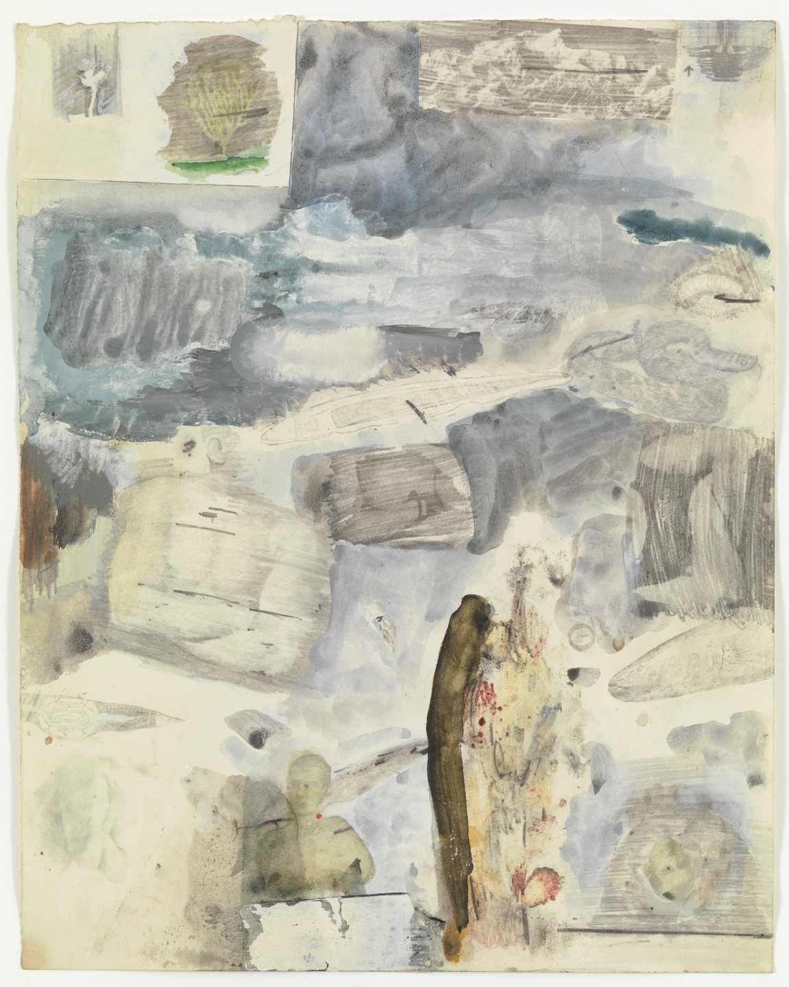 Robert Rauschenberg. Canto XXIV: Circle Eight, Bolgia 7, The Thieves from the series Thirty-Four Illustrations for Dante's Inferno. (1959-60)