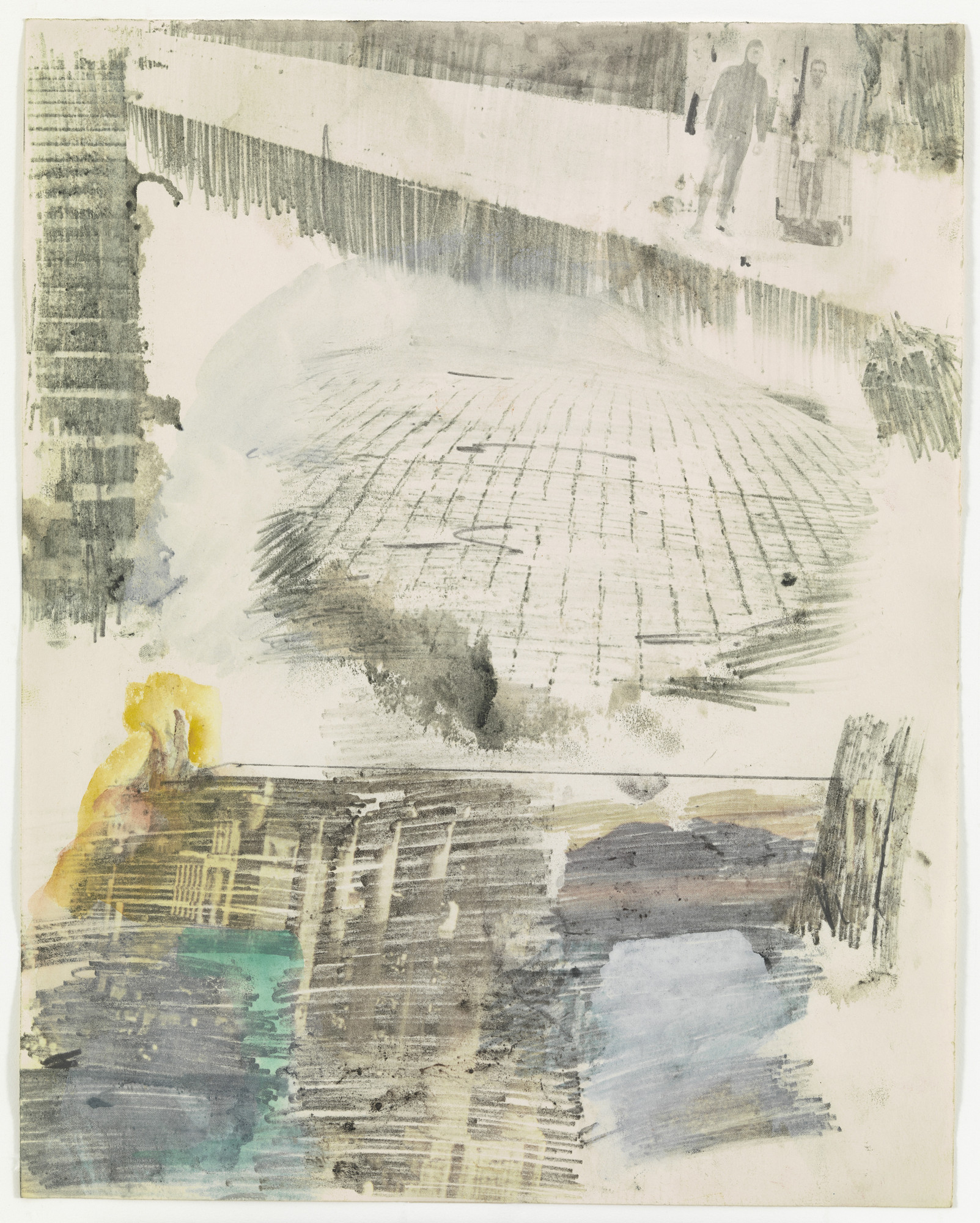 Robert Rauschenberg. Canto XXVI: Circle Eight, Bolgia 8, The Evil Counselors, from the series Thirty-Four Illustrations for Dante's Inferno. (1959-60)