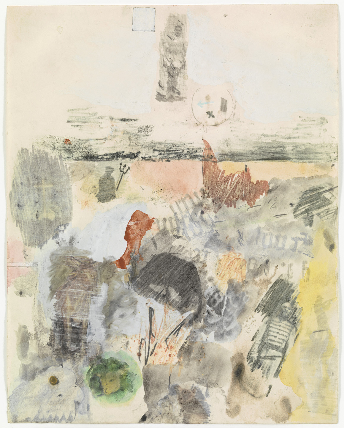 Robert Rauschenberg. Canto XXVII: Circle Eight, Bolgia 8, The Evil Counselors from the series Thirty-Four Illustrations for Dante's Inferno. (1959-60)