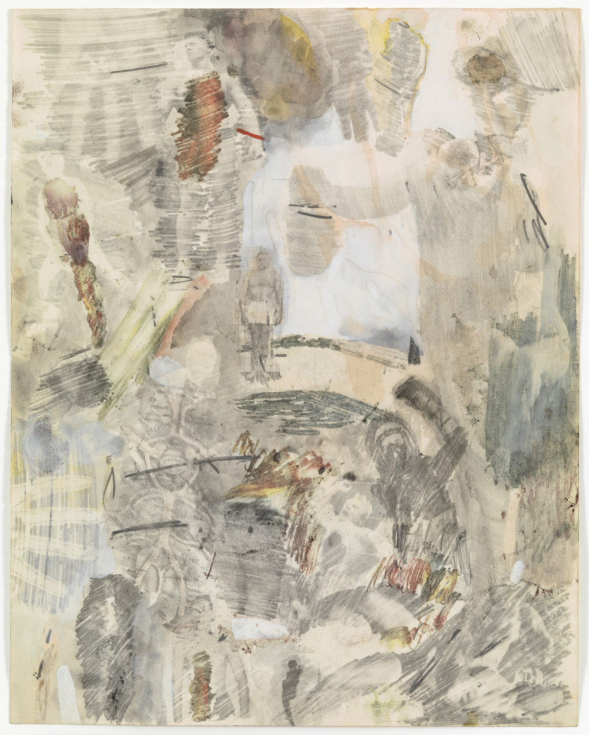 Robert Rauschenberg. Canto XXVIII: Circle Eight, Bolgia 9, The Sowers of Discord: The Sowers of Religious and Political Discord Between Kinsmen from the series Thirty-Four Illustrations for Dante's Inferno. (1959-60)