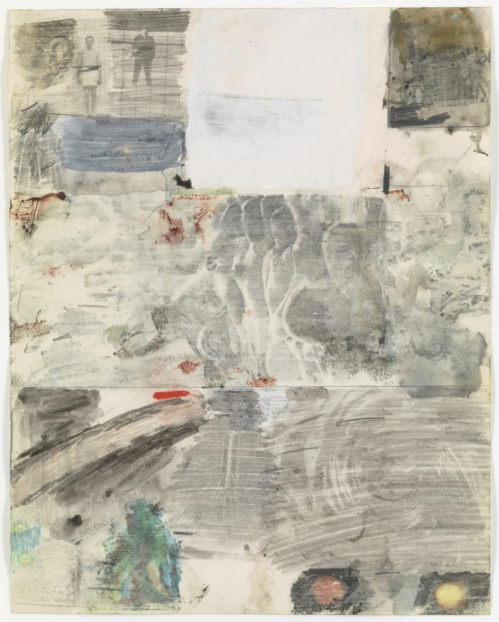 Robert Rauschenberg. Canto XXIX: Circle Eight, Bolgia 10, The Falsifiers: Class 1, The Alchemists from the series Thirty-Four Illustrations for Dante's Inferno. (1959-60)