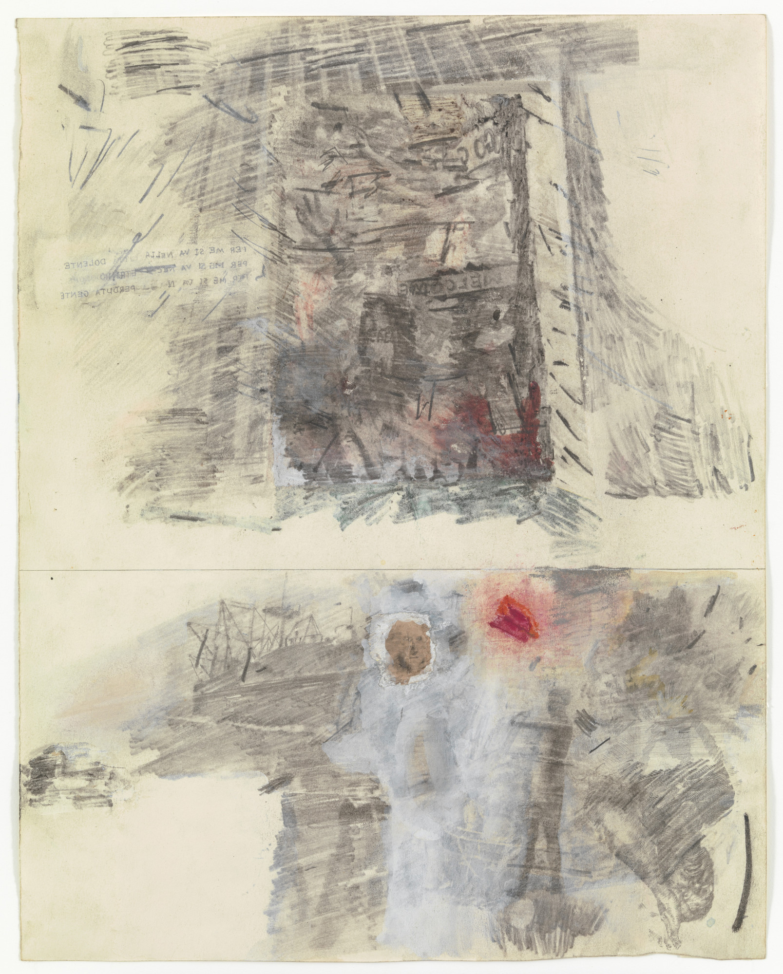 Robert Rauschenberg. Canto III: The Vestibule of Hell, The Opportunists from the series Thirty-Four Illustrations for Dante's Inferno. (1958)