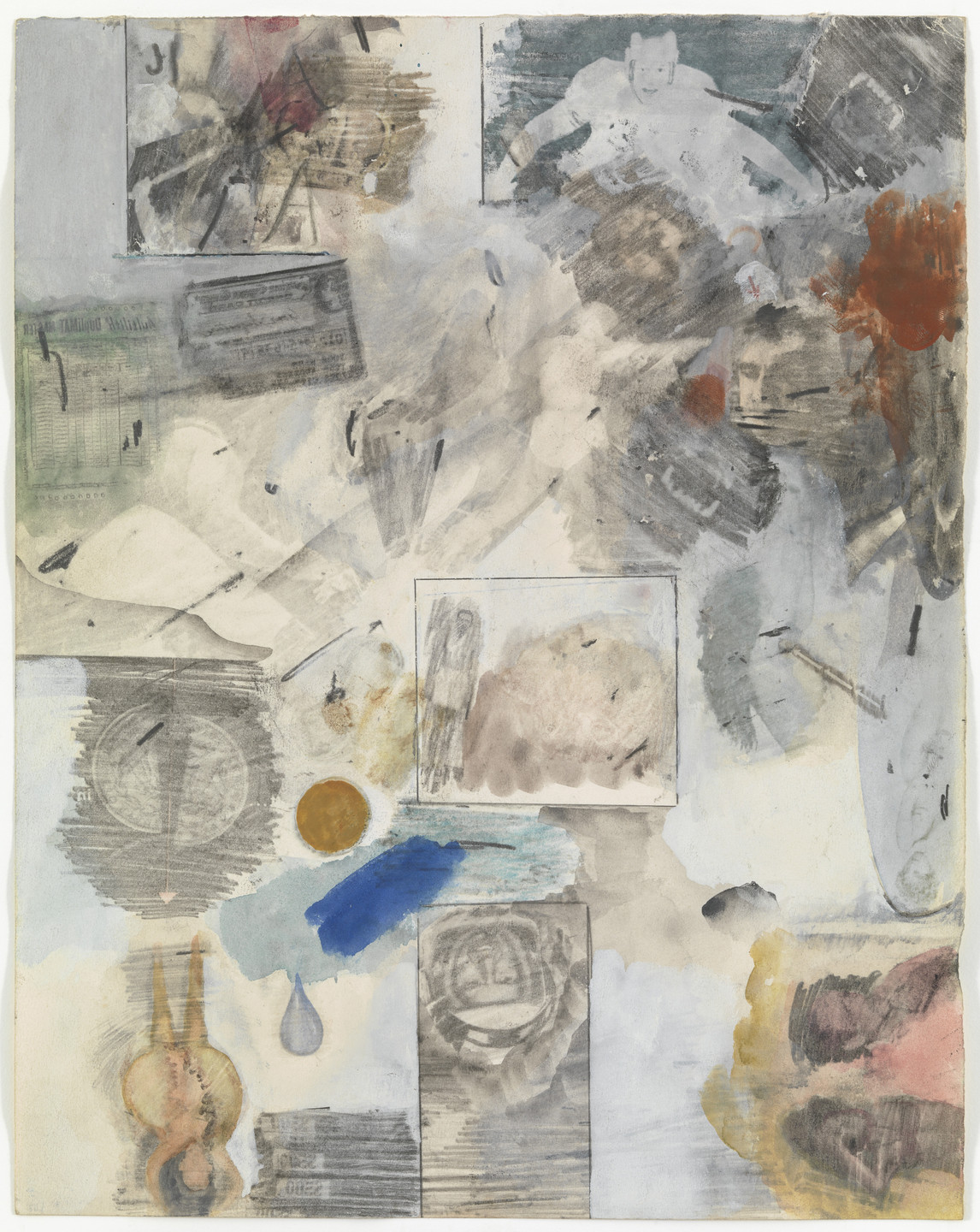Robert Rauschenberg. Canto XXX: Circle Eight, Bolgia 10, The Falsifiers: The Evil Impersonators, Counterfeiters, and False Witnesses from the series Thirty- Four Illustrations for Dante's Inferno. (1959-60)