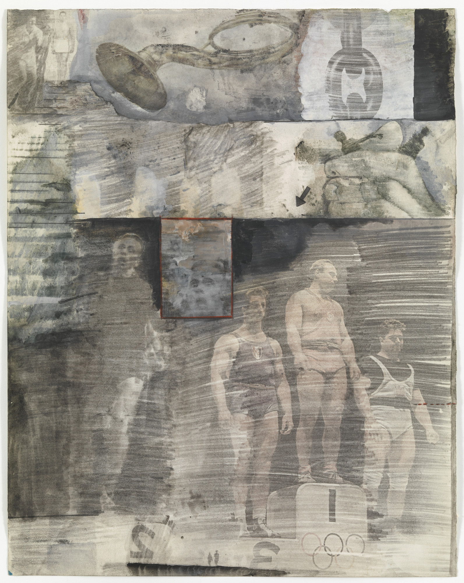 Robert Rauschenberg. Canto XXXI: The Central Pit of Malebolge, The Giants from the series Thirty- Four Illustrations for Dante's Inferno. (1959-60)