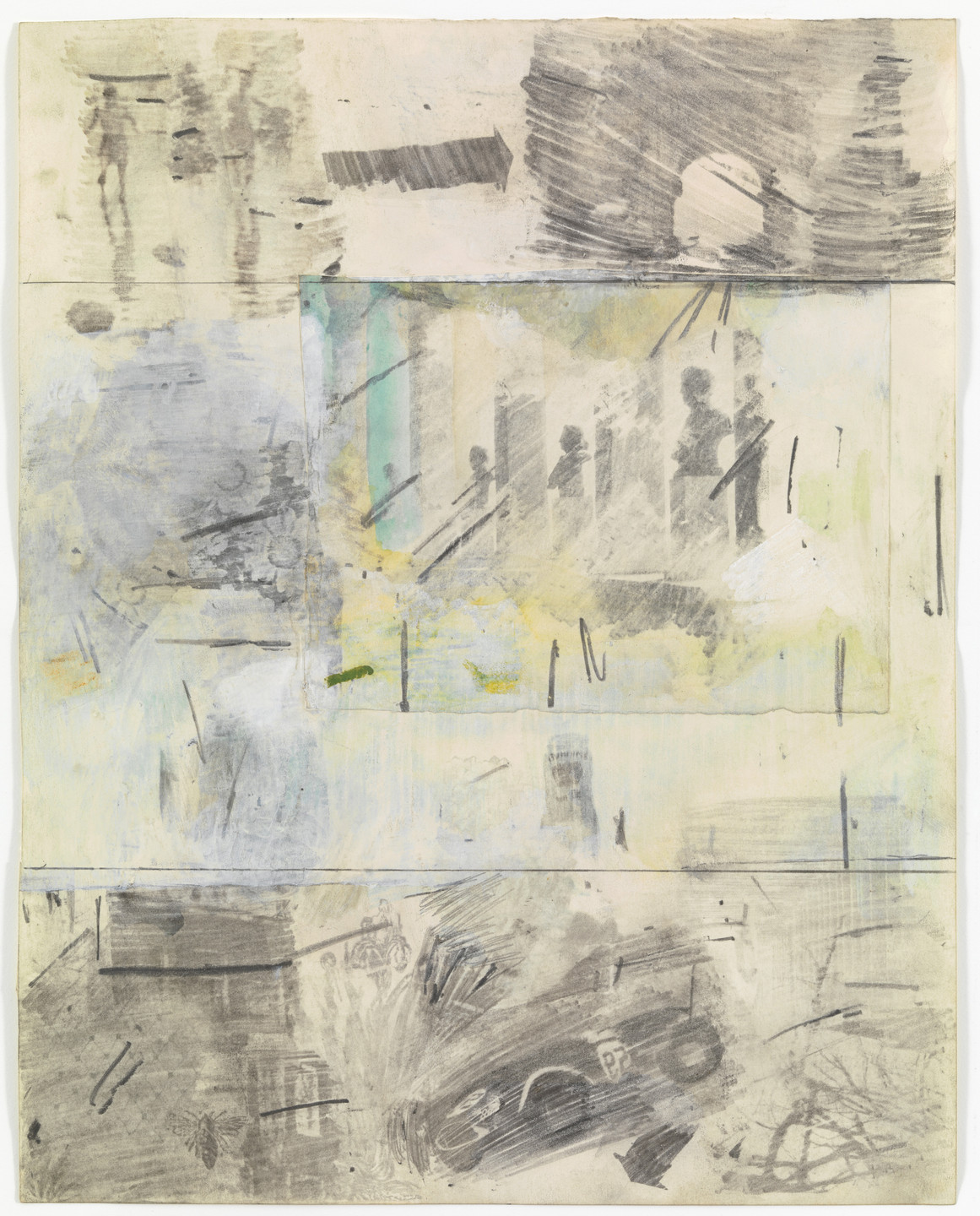 Robert Rauschenberg. Canto IV: Limbo, Circle One, The Virtuous Pagans from the series Thirty-Four Illustrations for Dante's Inferno. (1958)