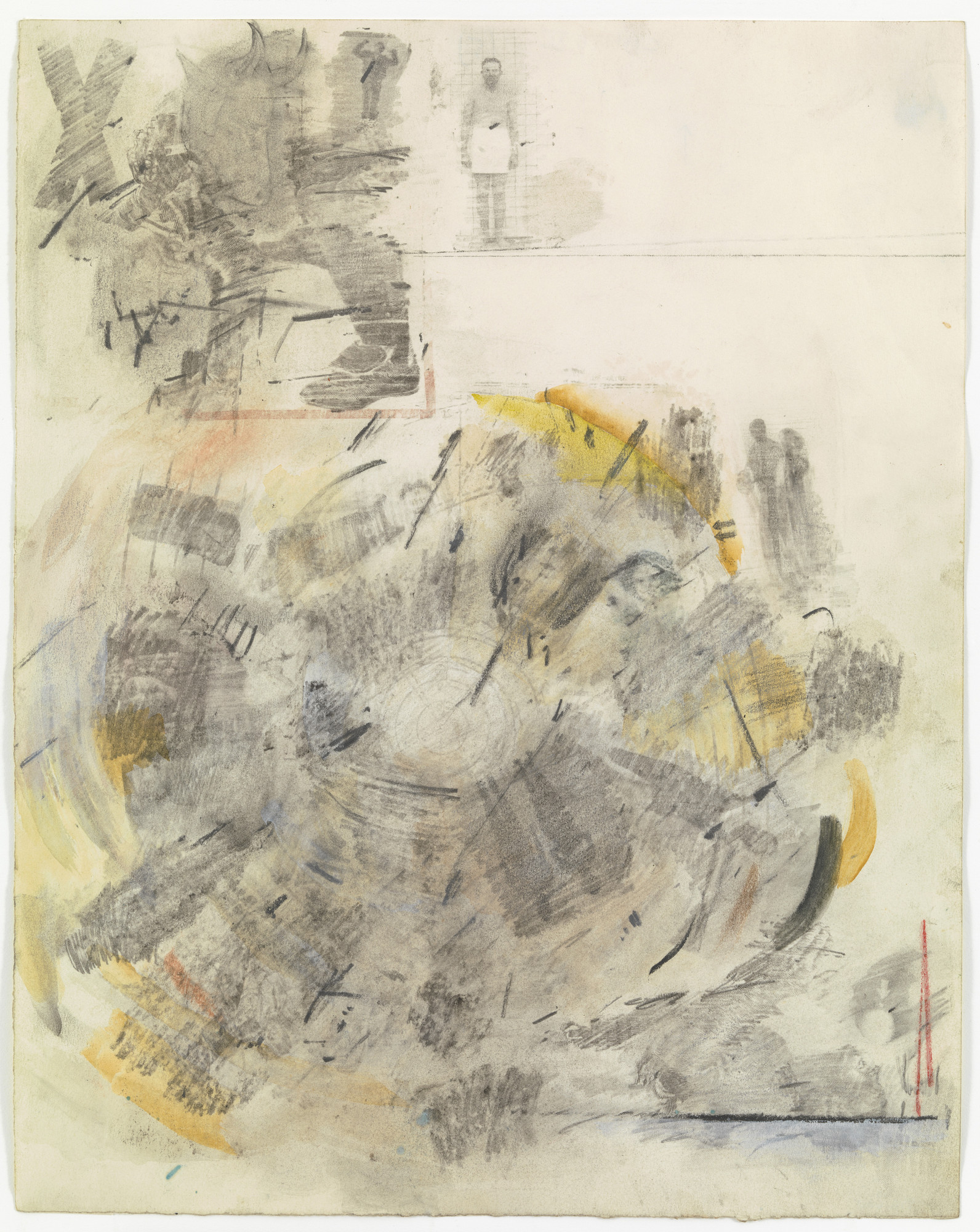 Robert Rauschenberg. Canto V: Circle Two, The Carnal from the series Thirty-Four lIlustrations for Dante's Inferno. (1958)