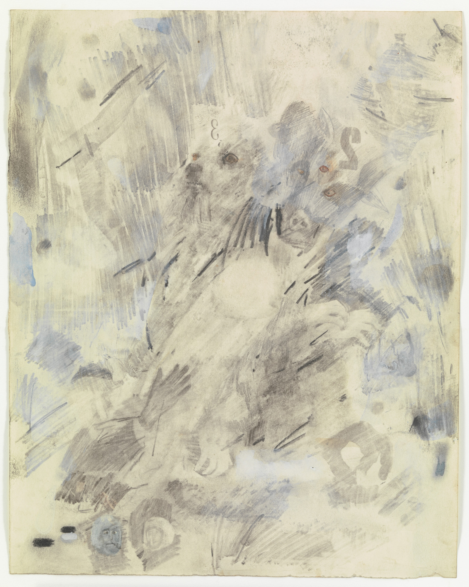 Robert Rauschenberg. Canto VI: Circle Three, The Gluttons from the series Thirty-Four Illustrations for Dante's Inferno. (1958)