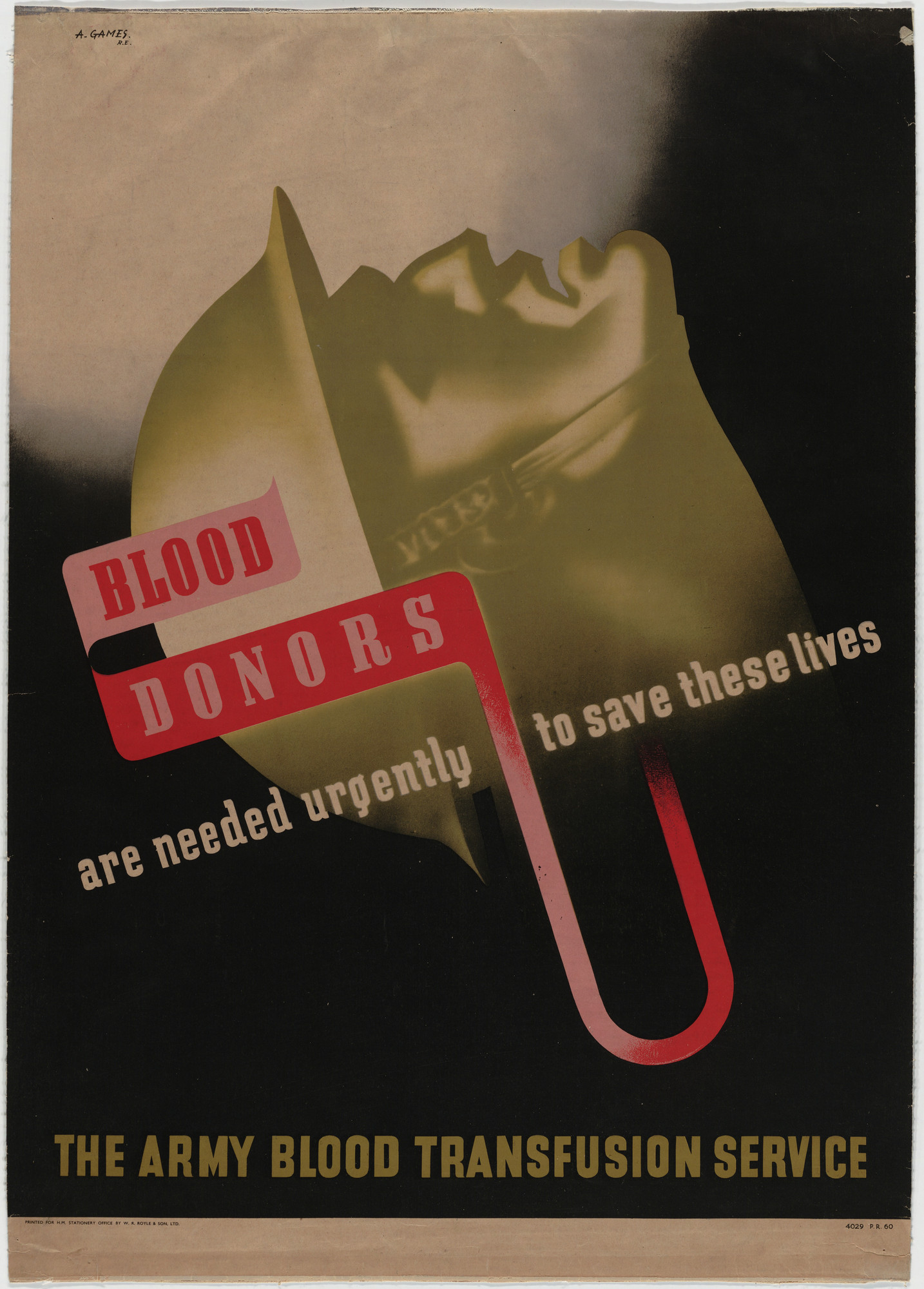 Abram Games. The Army Blood Transfusion Service. 1941-43