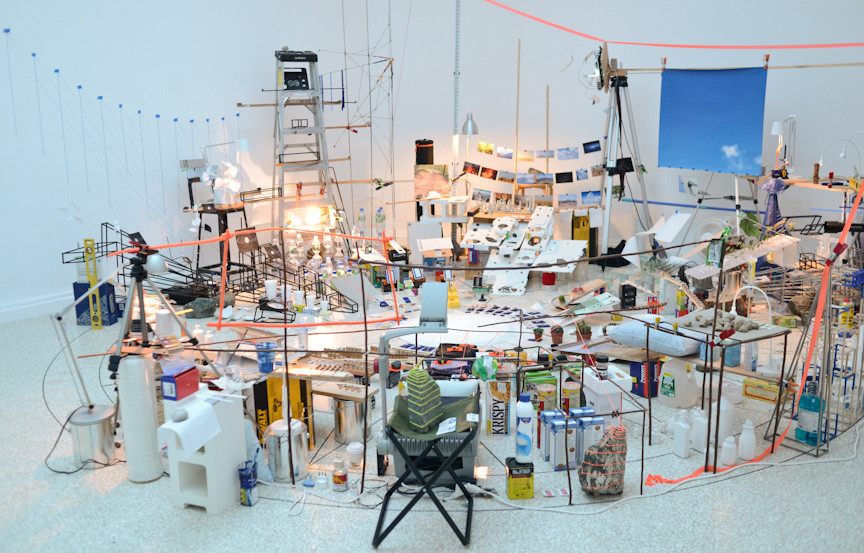 Sarah Sze. Triple Point (Pendulum). 2013