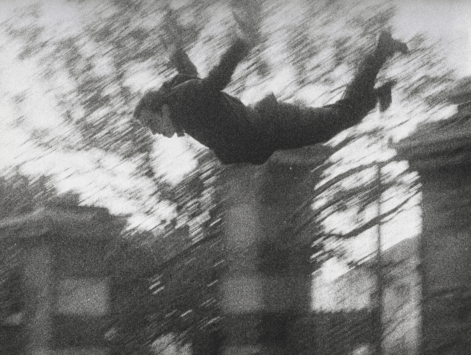 Yves Klein, János Kender, Harry Shunk. Leap into the Void. 1960