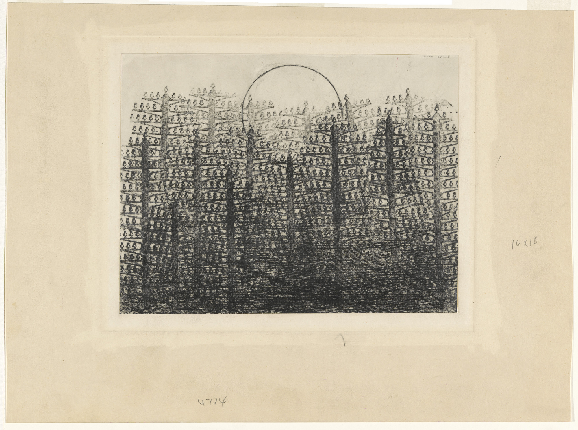 Max Ernst. Forest and Sun. 1931