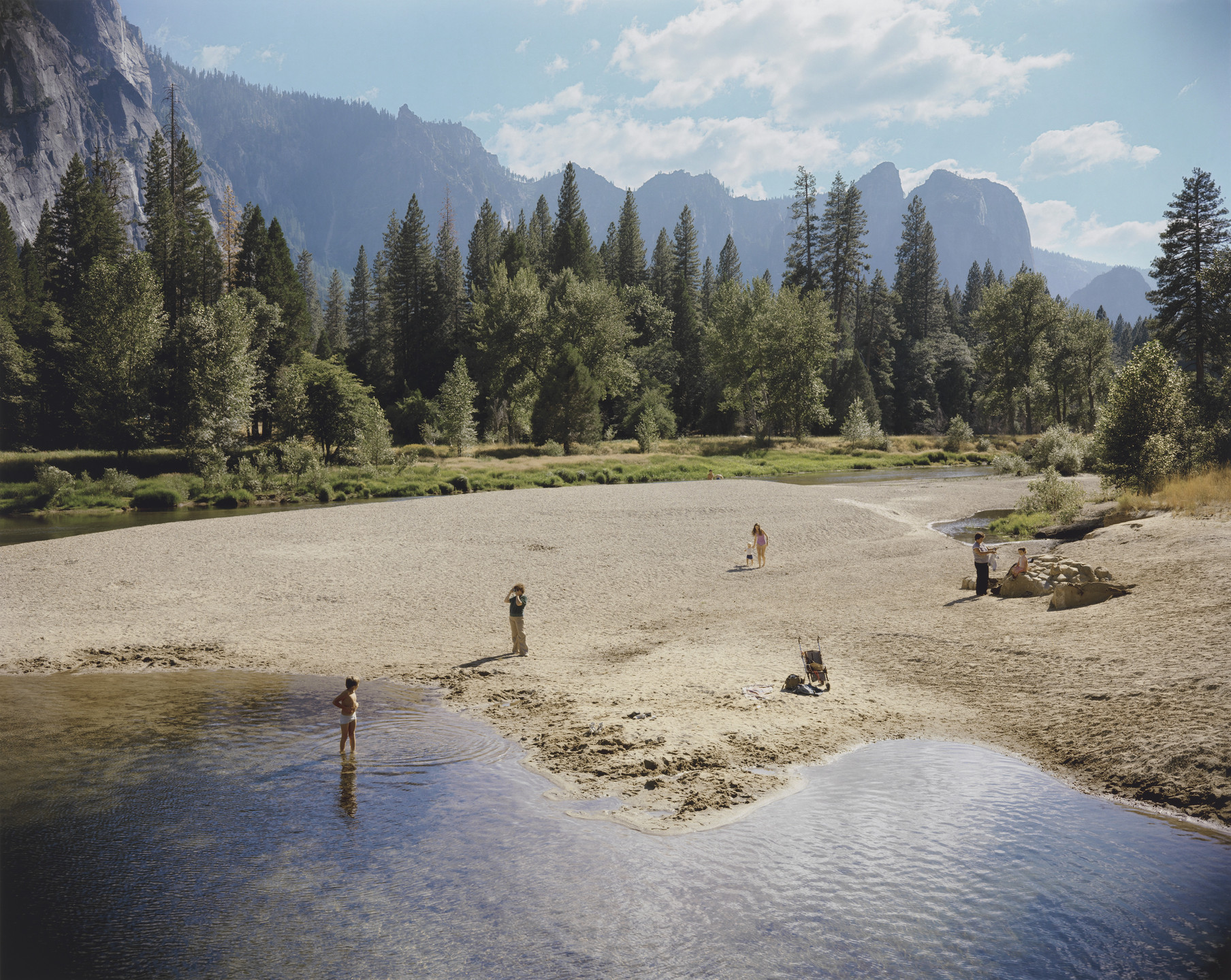 Stephen Shore. Merced River, Yosemite National Park, California, August 13, 1979. 1979