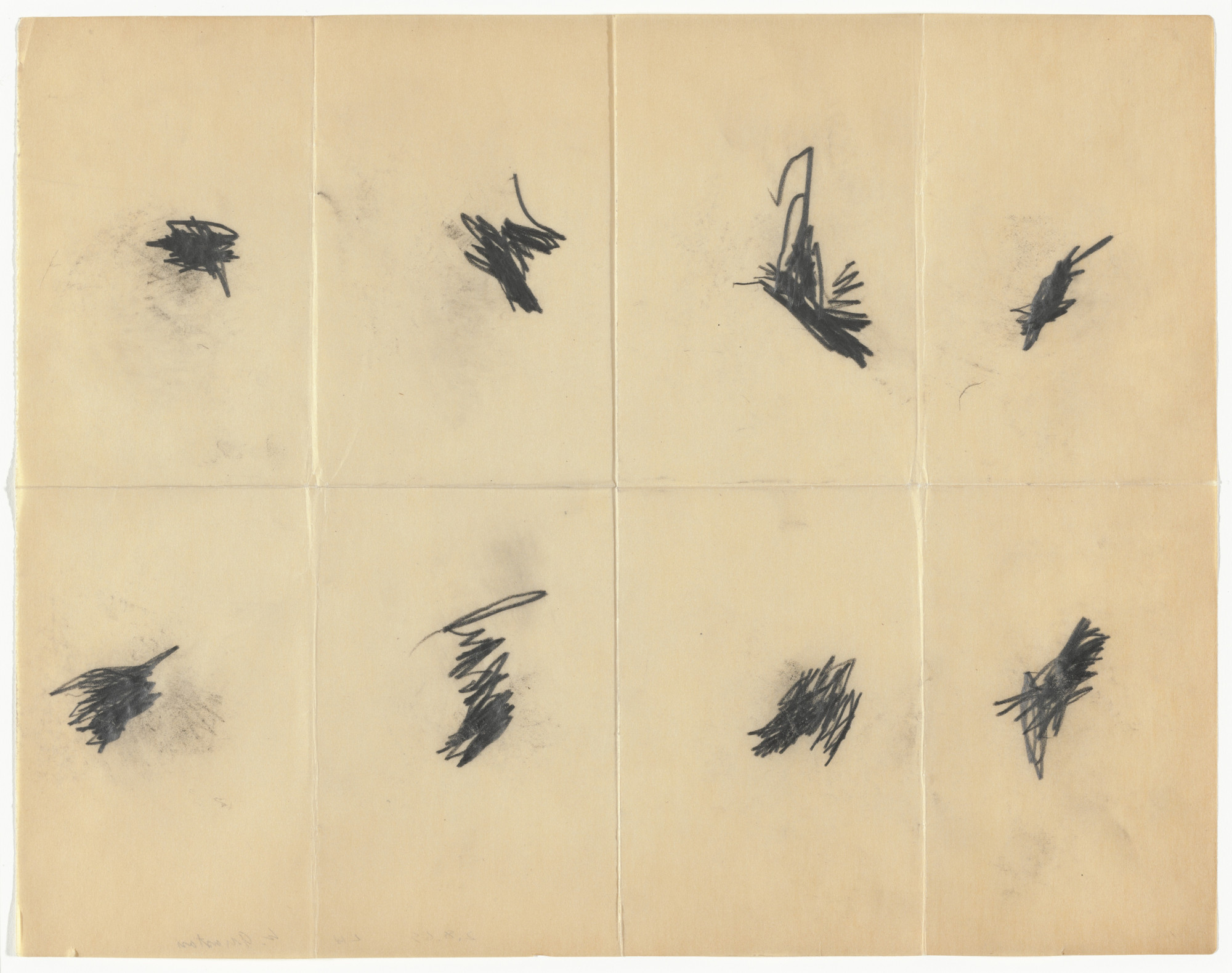 William Anastasi. Untitled (Pocket Drawings). 1969