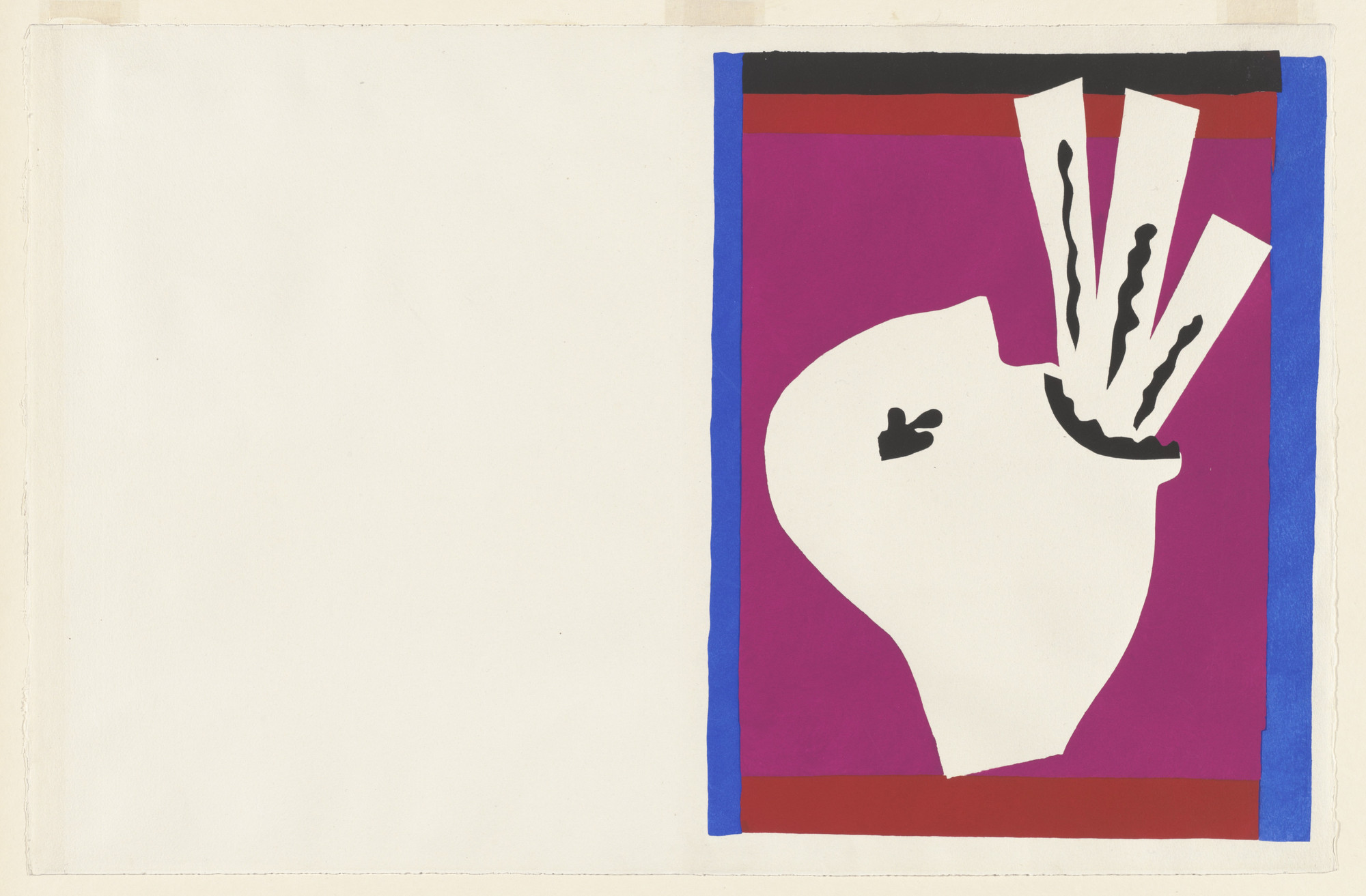 Henri Matisse. The Sword Swallower (L'Avaleur de sabres) from Jazz. 1947