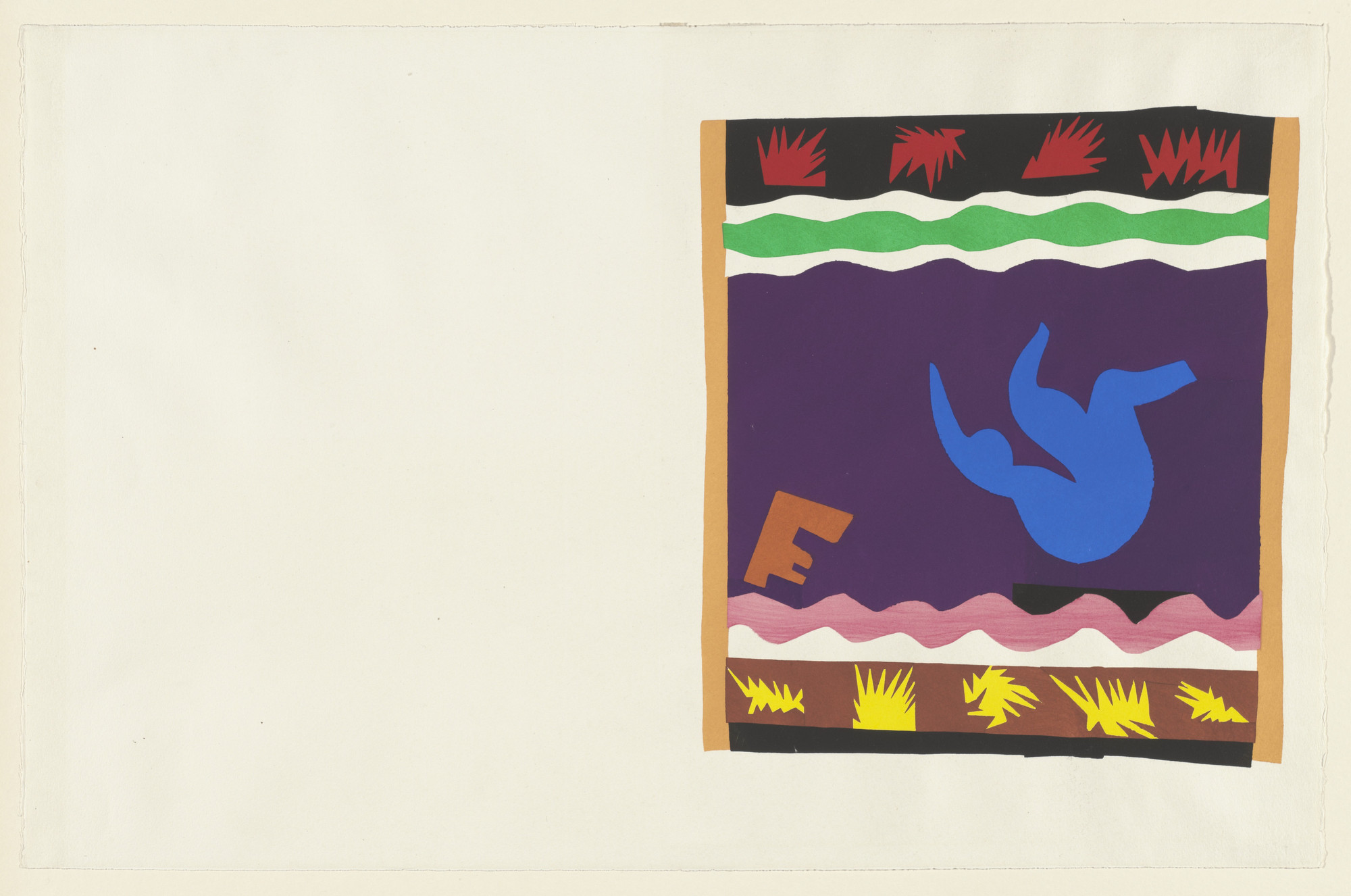 Henri Matisse. Toboggan (Le Tobogan) from Jazz. 1947