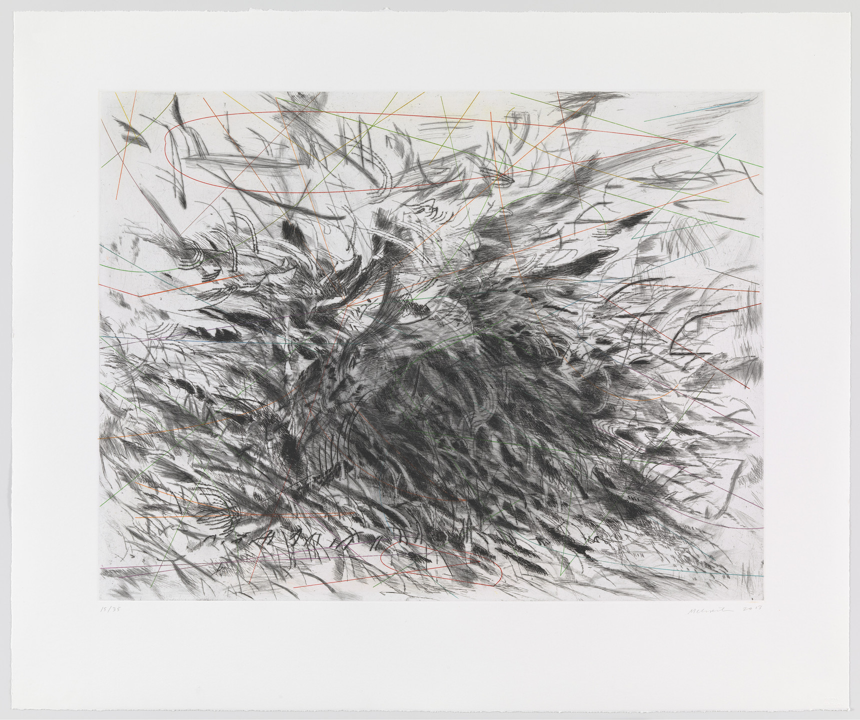 Julie Mehretu. Untitled from Algorithms, Apparitions and Translations. 2013