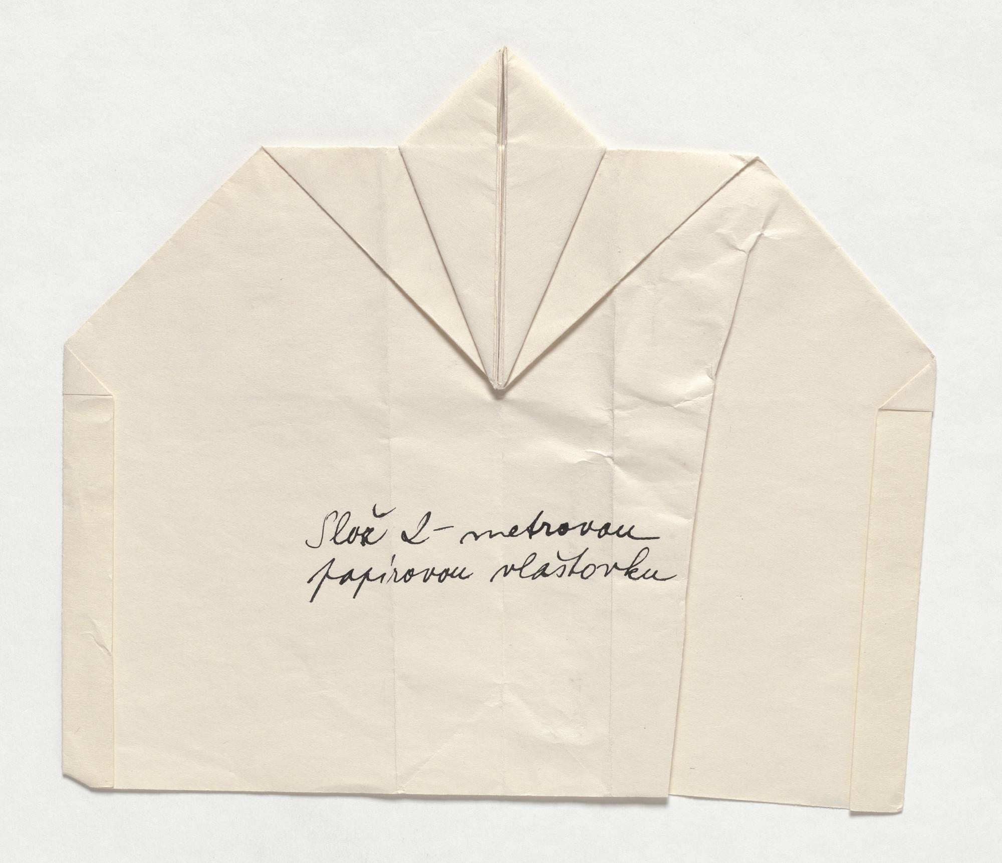 Milan Knížák  Paper Glider  1965 | MoMA