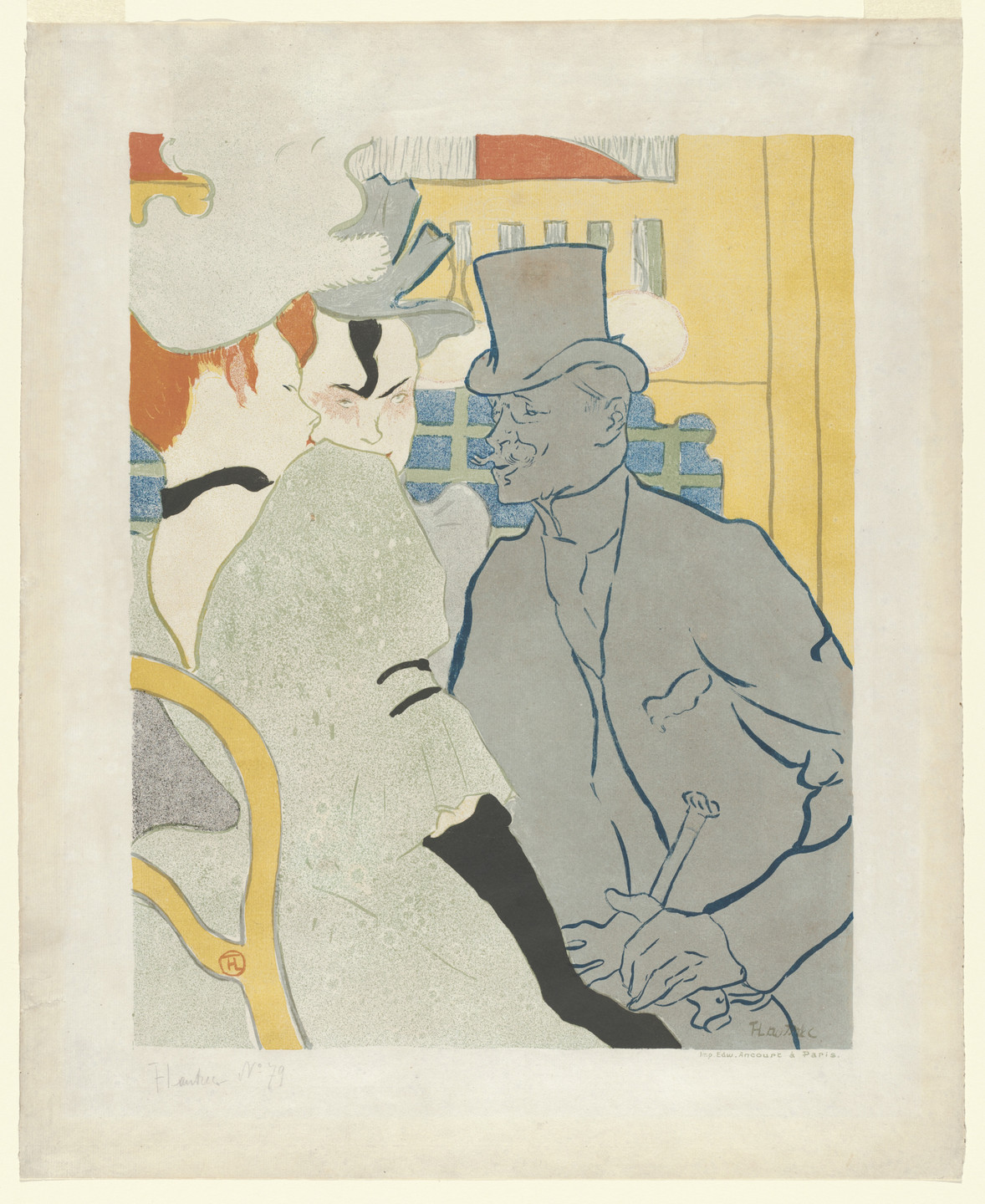 Henri de Toulouse-Lautrec. L'Anglais au Moulin Rouge (Englishman at the Moulin Rouge). 1892