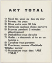 Ben Vautier. Art Total. 1963