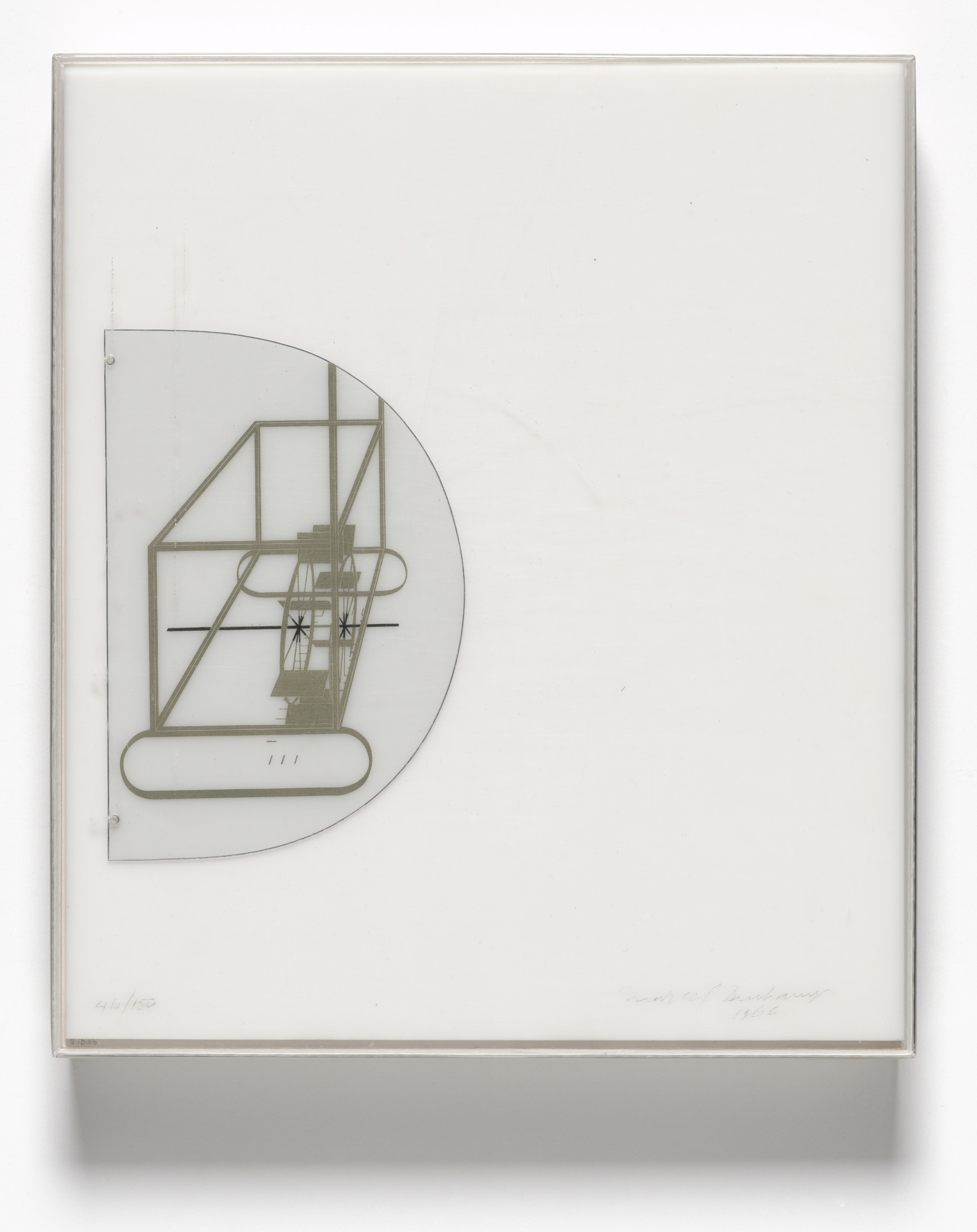 Marcel Duchamp. Cover for À l'Infinitif (La Boîte Blanche) (In the Infinitive [The White Box]). 1966