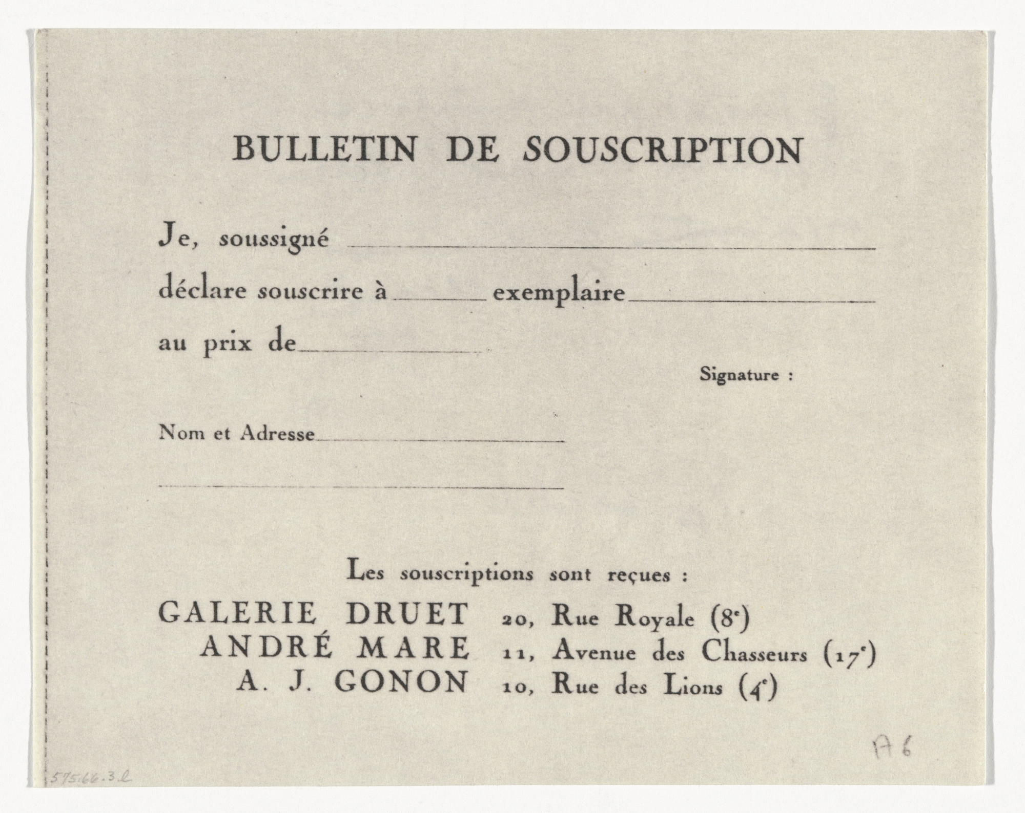 Marcel Duchamp. Speculations from À l'Infinitif (La Boîte Blanche) (In the Infinitive [The White Box]). 1912–20, published 1966